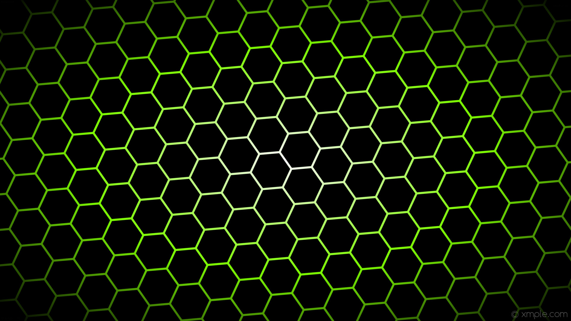 wallpaper black hexagon glow gradient white green chartreuse #000000  #ffffff #7fff00 diagonal 35