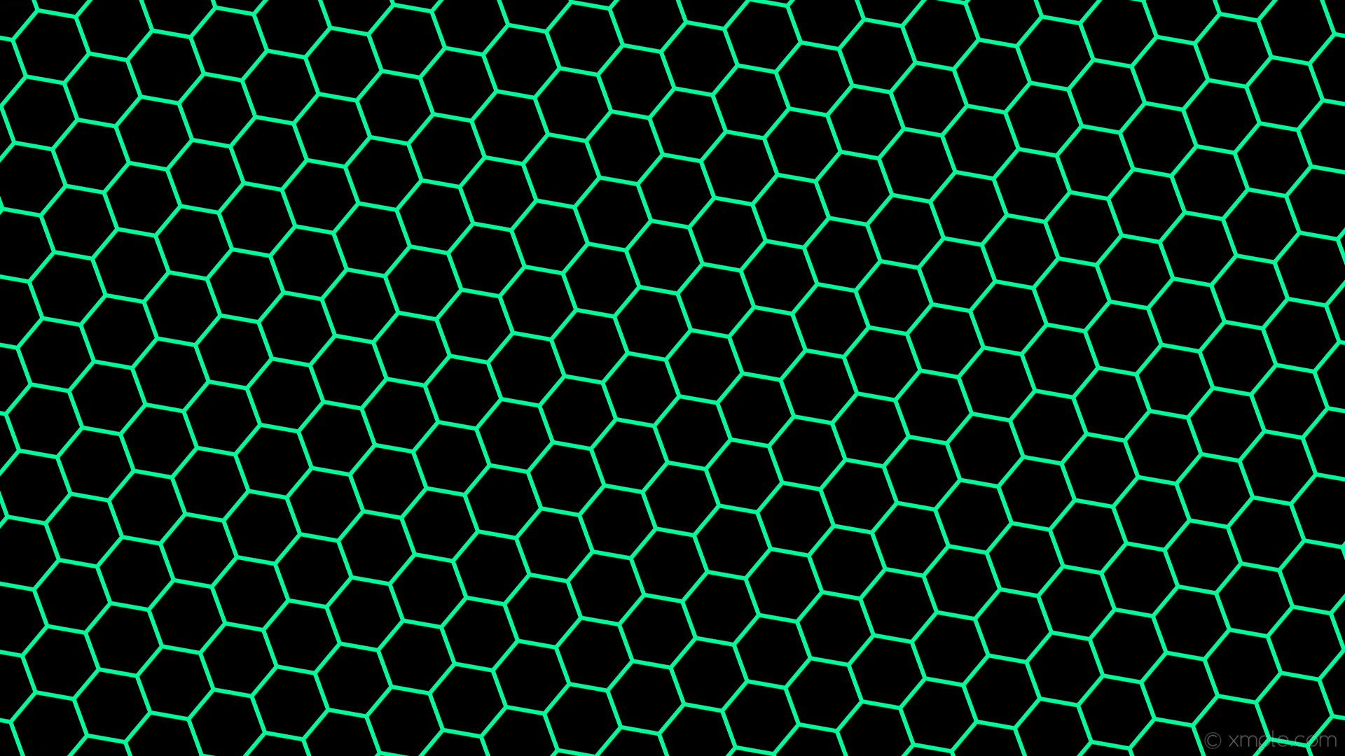 wallpaper beehive honeycomb green hexagon black medium spring green #000000  #00fa9a diagonal 20°