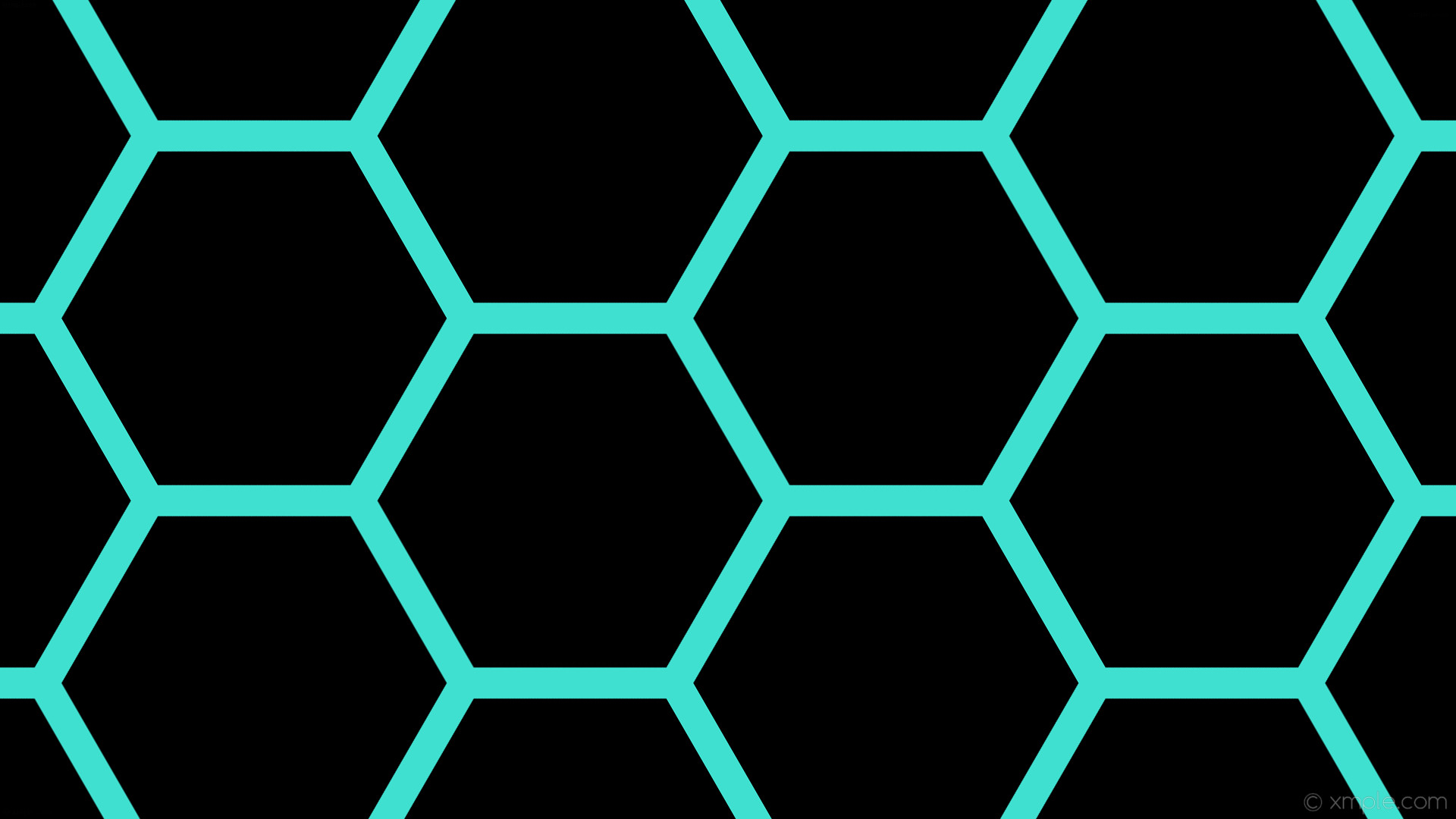 wallpaper beehive black honeycomb hexagon blue turquoise #000000 #40e0d0  diagonal 30° 41px 481px