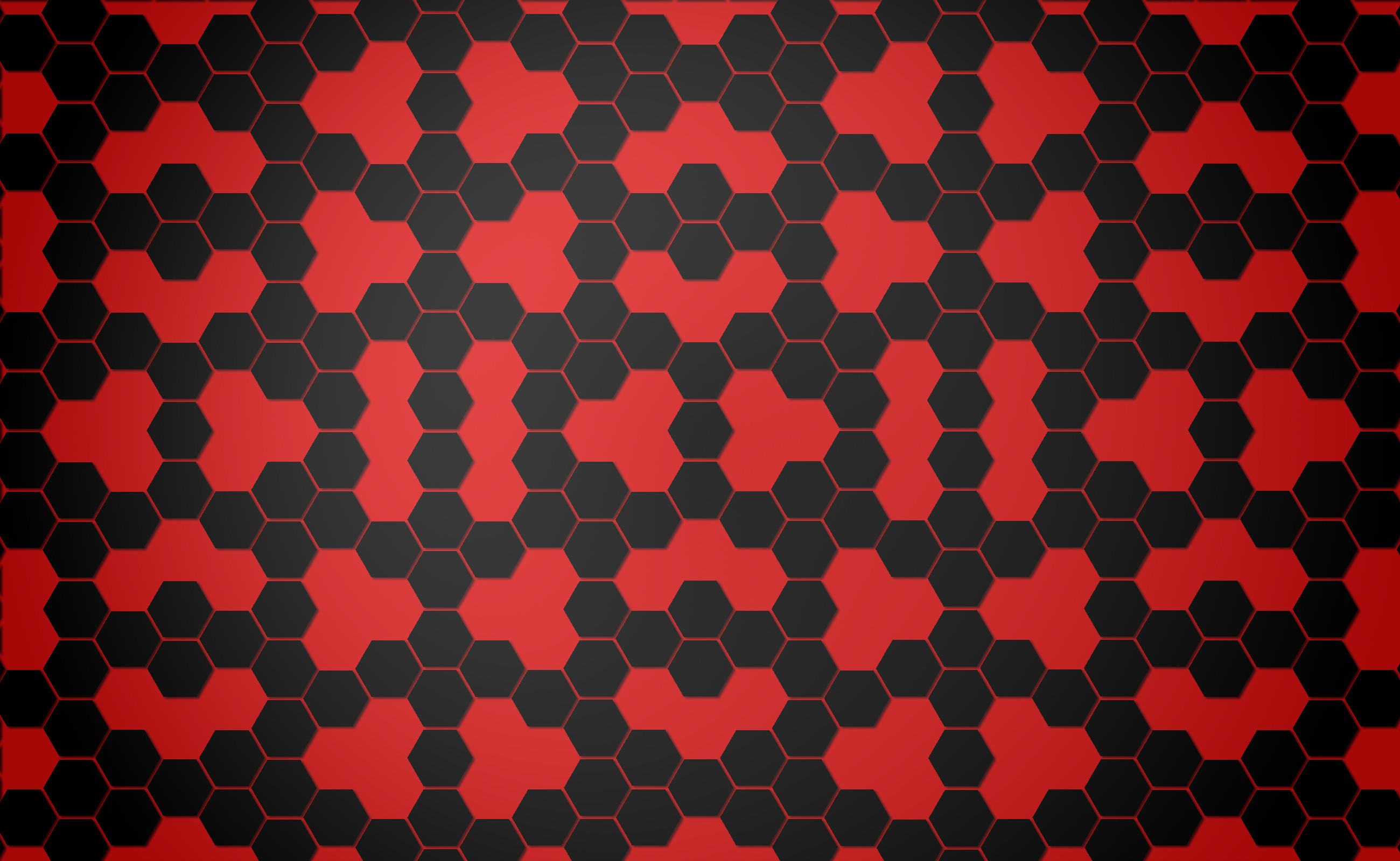 Abstract – Pattern Black Hexagon Red Abstract Wallpaper