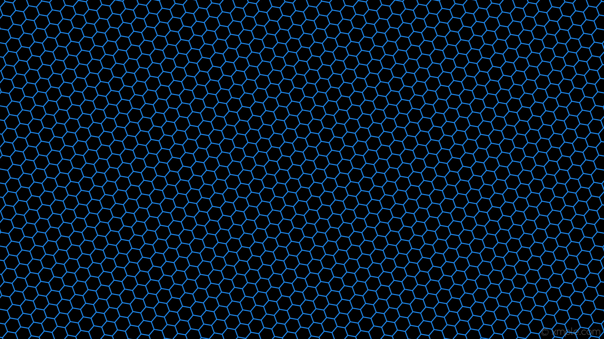 wallpaper drop shadow beehive black hexagon blue dodger blue #1e90ff  #000000 60° 3px