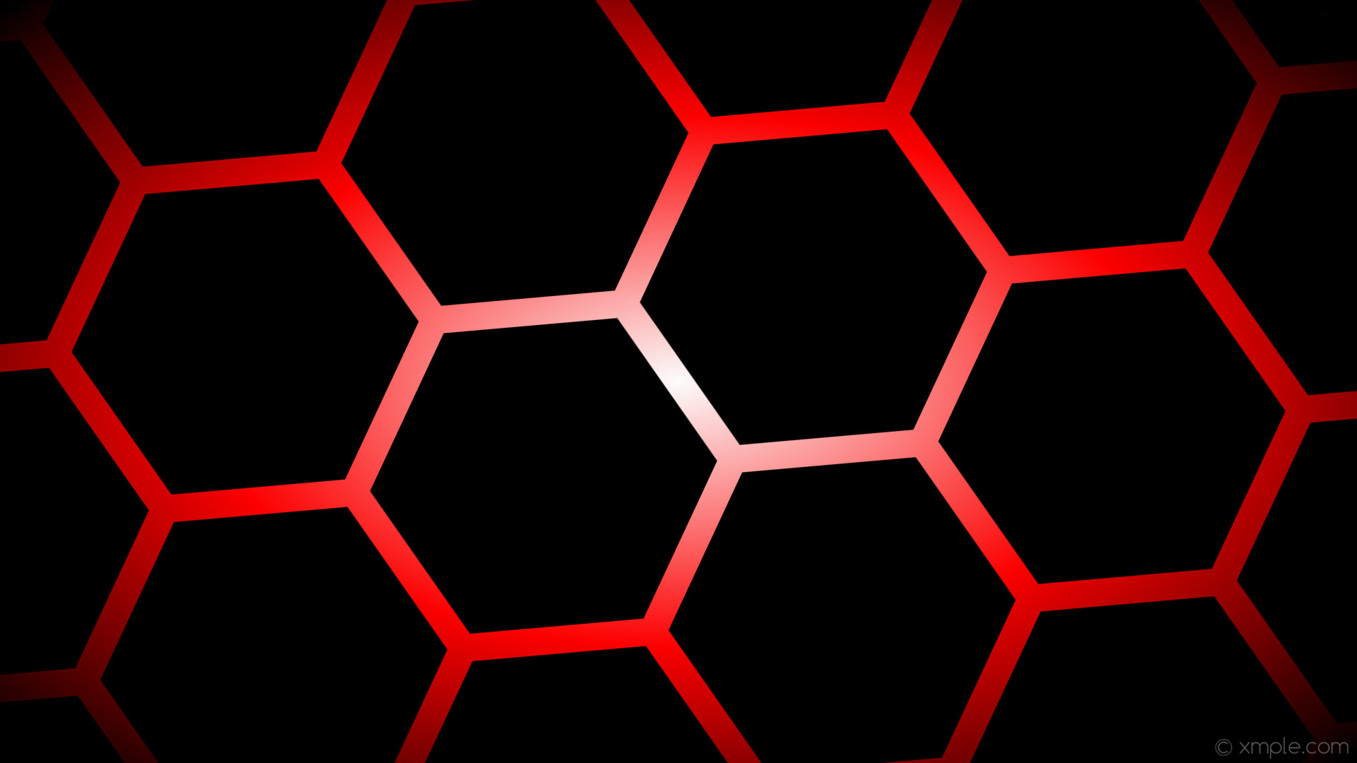 wallpaper black glow hexagon white gradient red #000000 #ffffff #ff0000  diagonal 35°