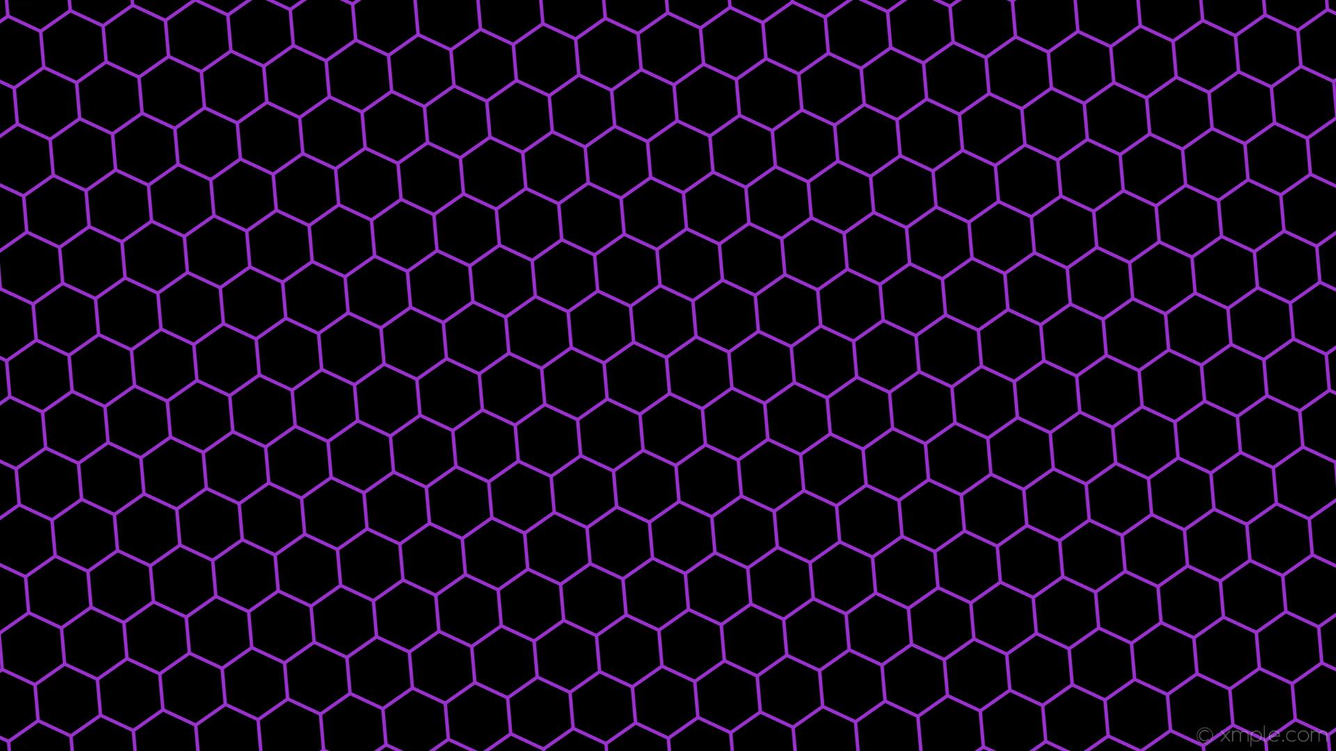 wallpaper beehive black honeycomb purple hexagon dark orchid #000000  #9932cc diagonal 5° 5px