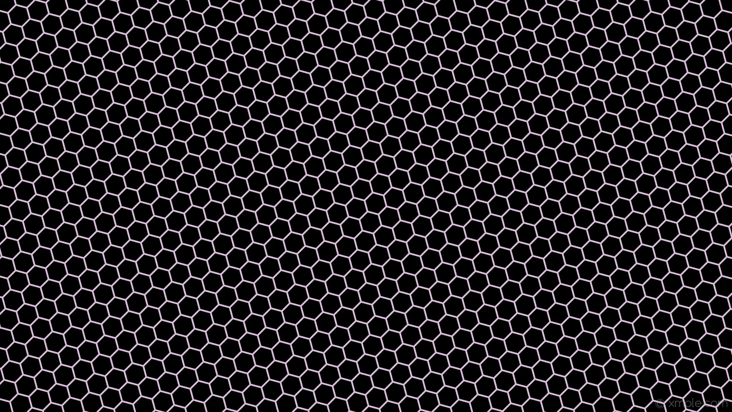 wallpaper beehive honeycomb black hexagon purple thistle #000000 #d8bfd8  diagonal 15° 6px 69px