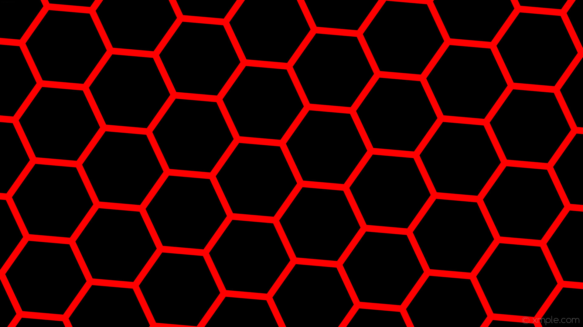 wallpaper red honeycomb black hexagon beehive #000000 #ff0000 diagonal 25°  22px 255px