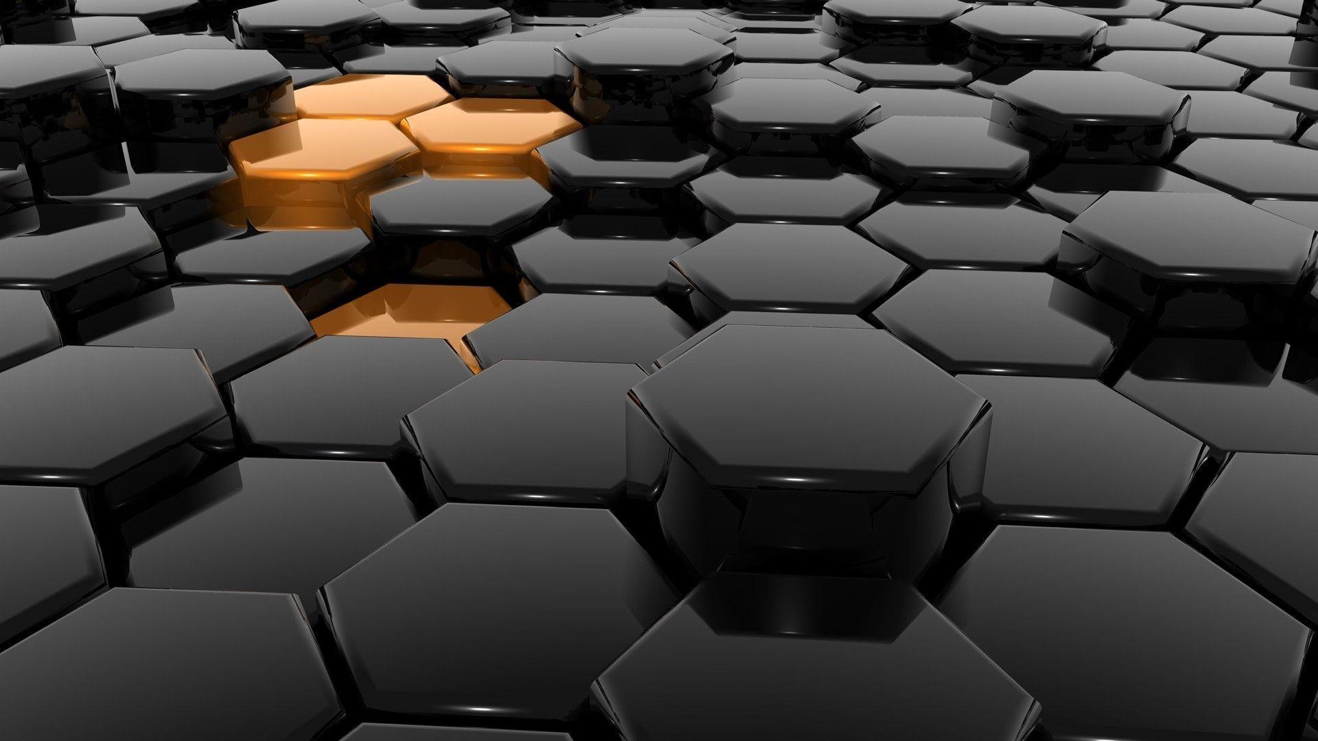 Gray hexagons HD Wallpaper 1920×1080
