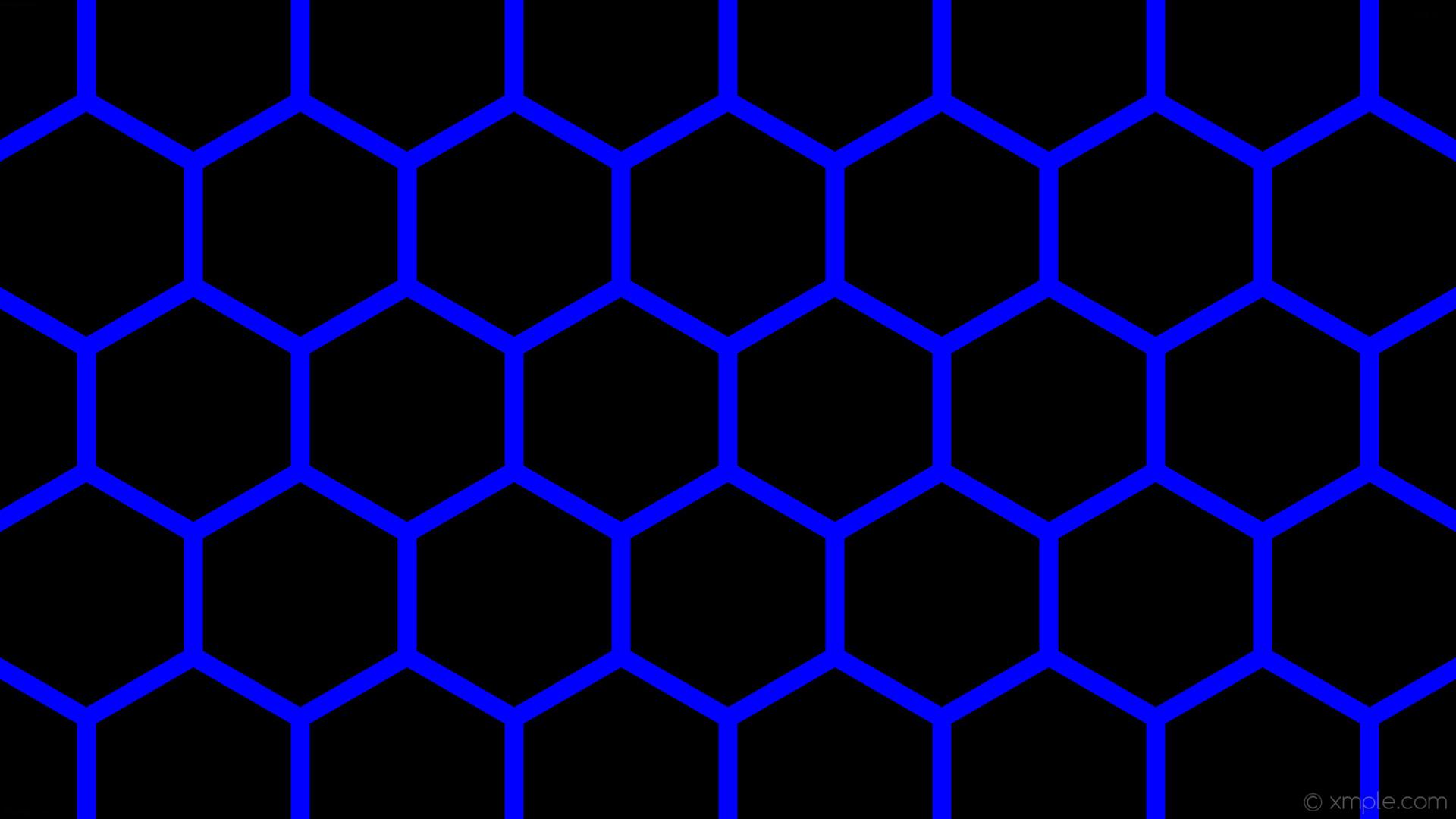 wallpaper beehive black honeycomb blue hexagon #000000 #0000ff 0° 25px 282px