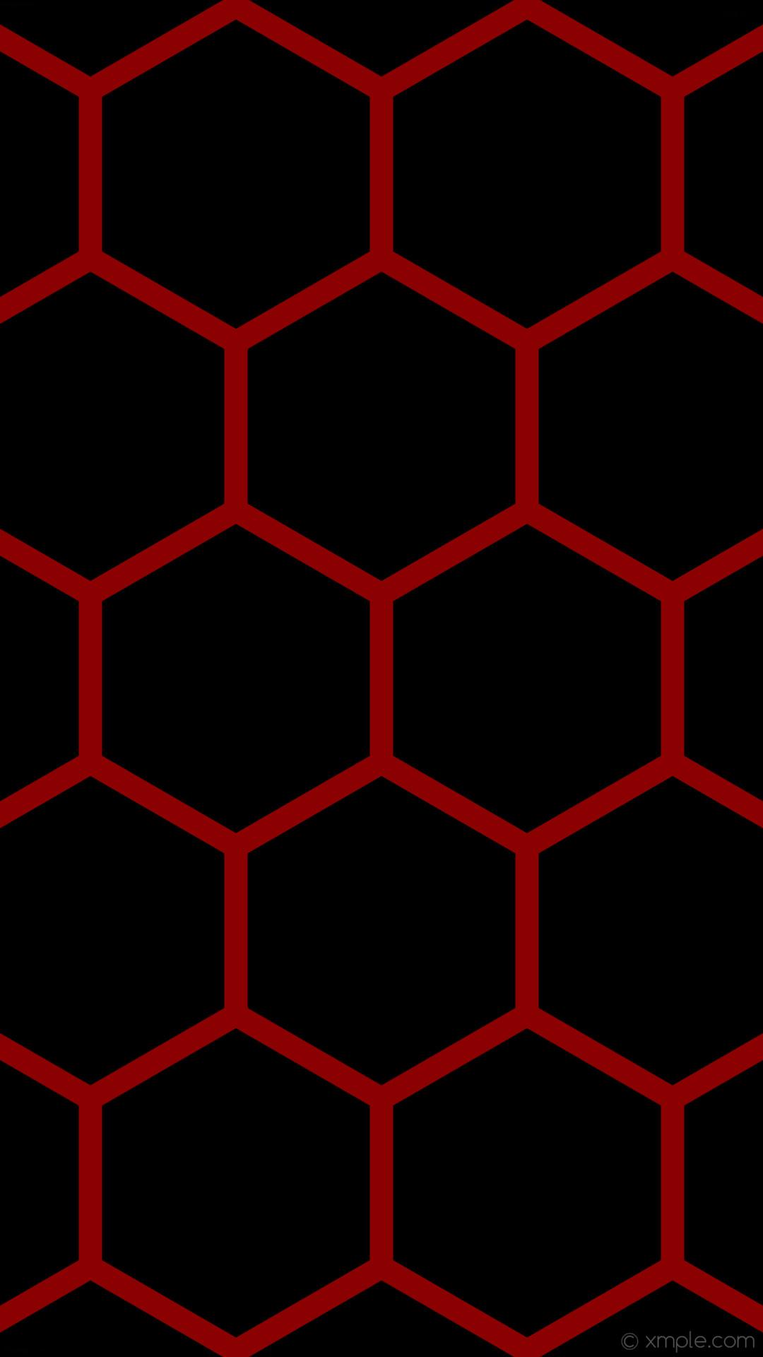 wallpaper red honeycomb black hexagon beehive dark red #000000 #8b0000 0°  33px 412px