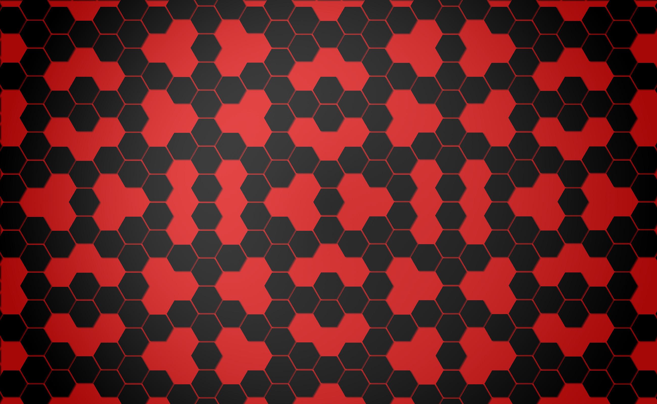 Background black and red hexagon Computer Wallpapers, Desktop .