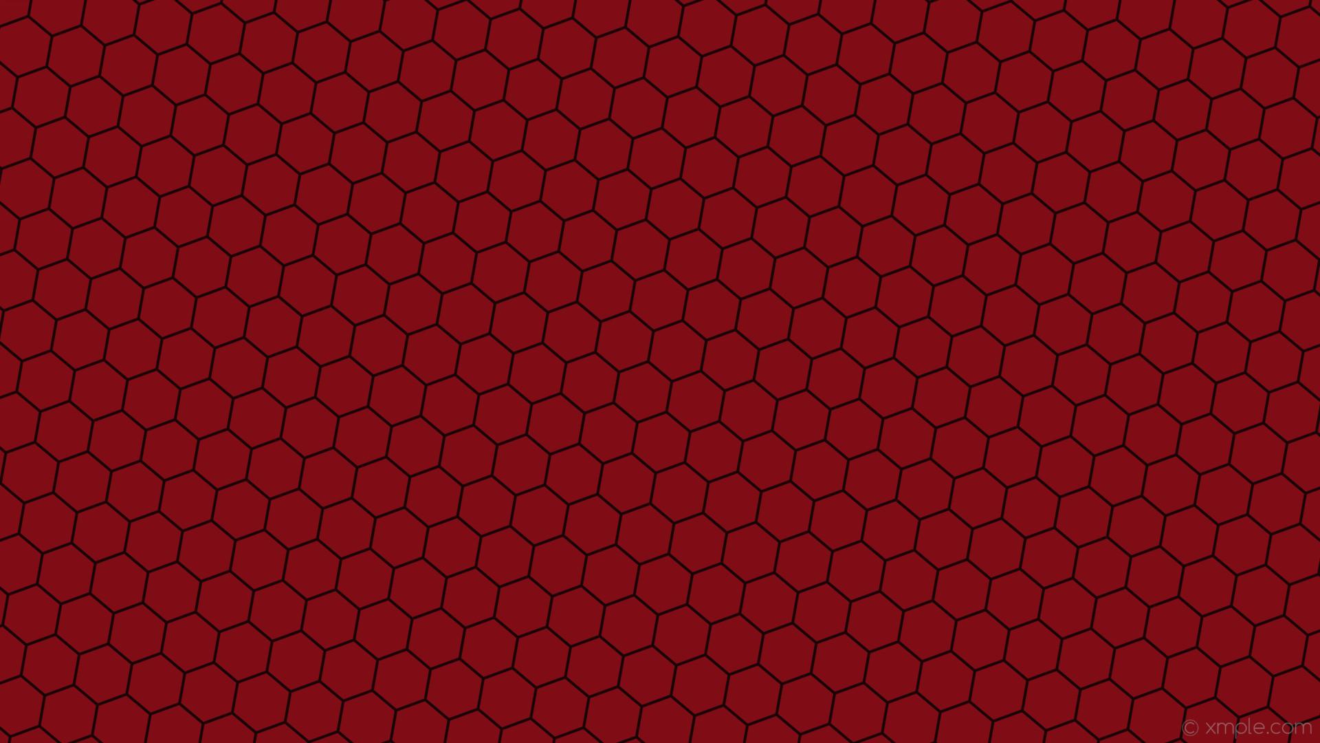 wallpaper honeycomb red hexagon beehive dark red #800c16 #180406 diagonal  50° 4px 78px