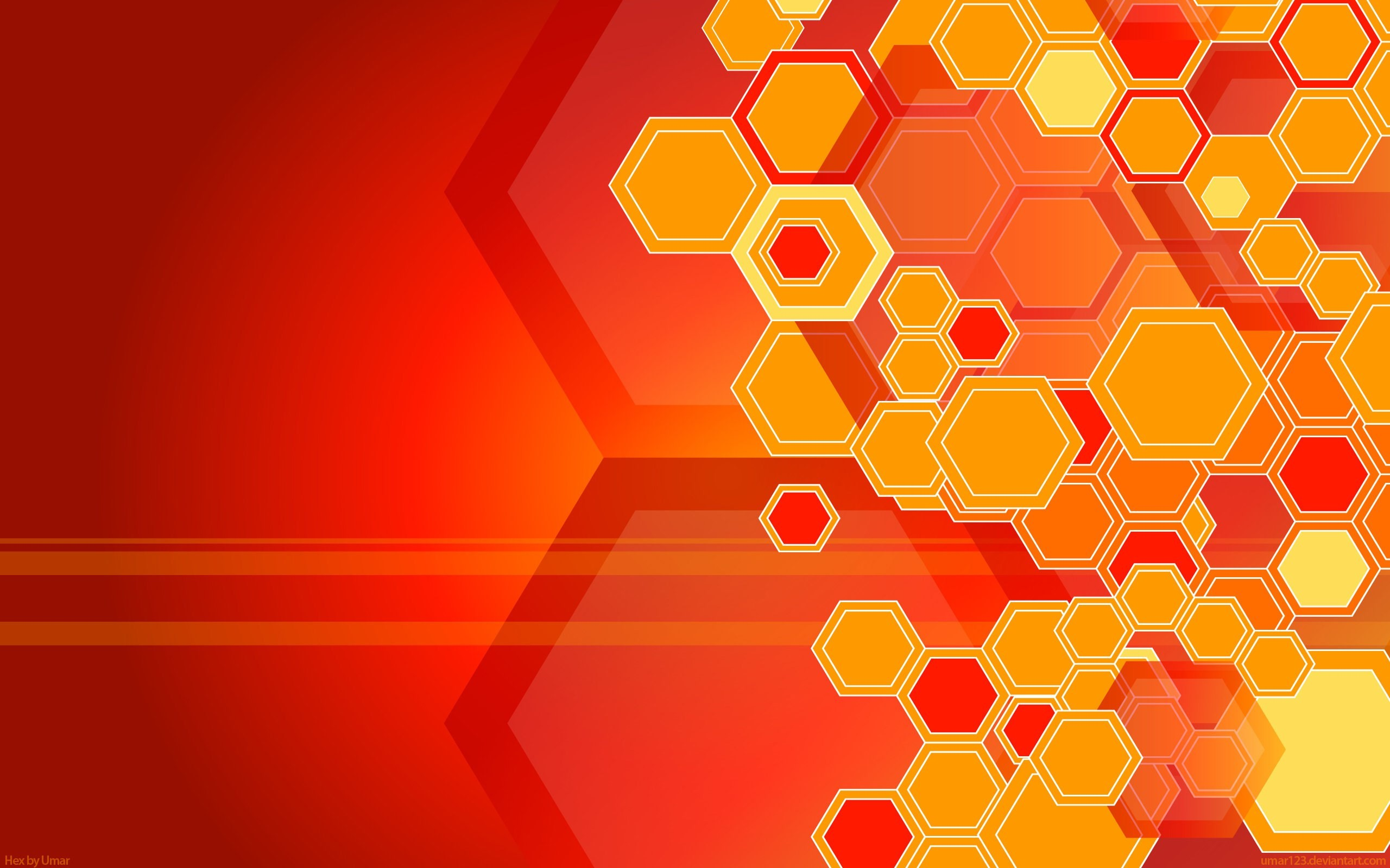 This hexagon shape abstract wallpaper will be a good material for your  graphic design project on Photoshop. You can also use this image for your  PC desktop