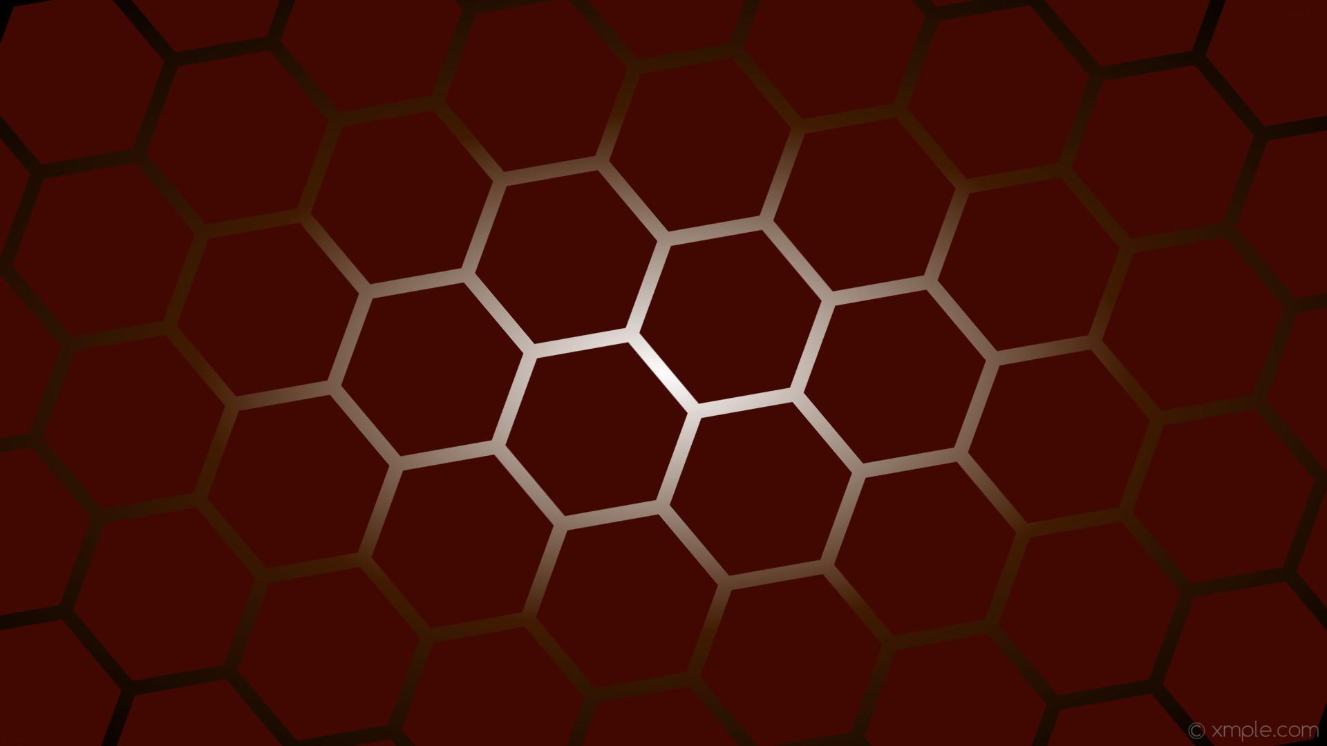 wallpaper black white red hexagon gradient orange glow dark red dark orange  #410801 #ffffff