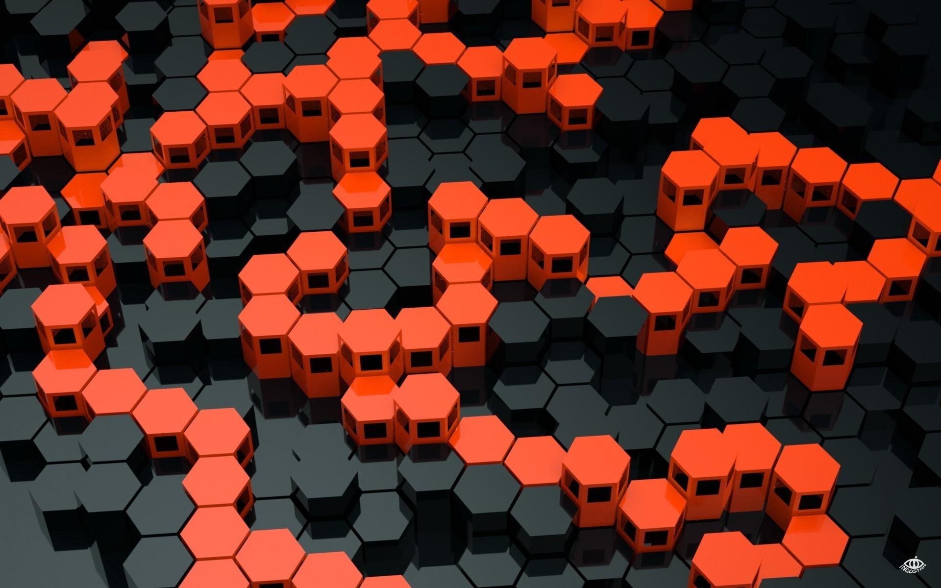 Black cells red (1920×1200, cells, red) via www.allwallpaper.in · Hexagon  WallpaperOrange …