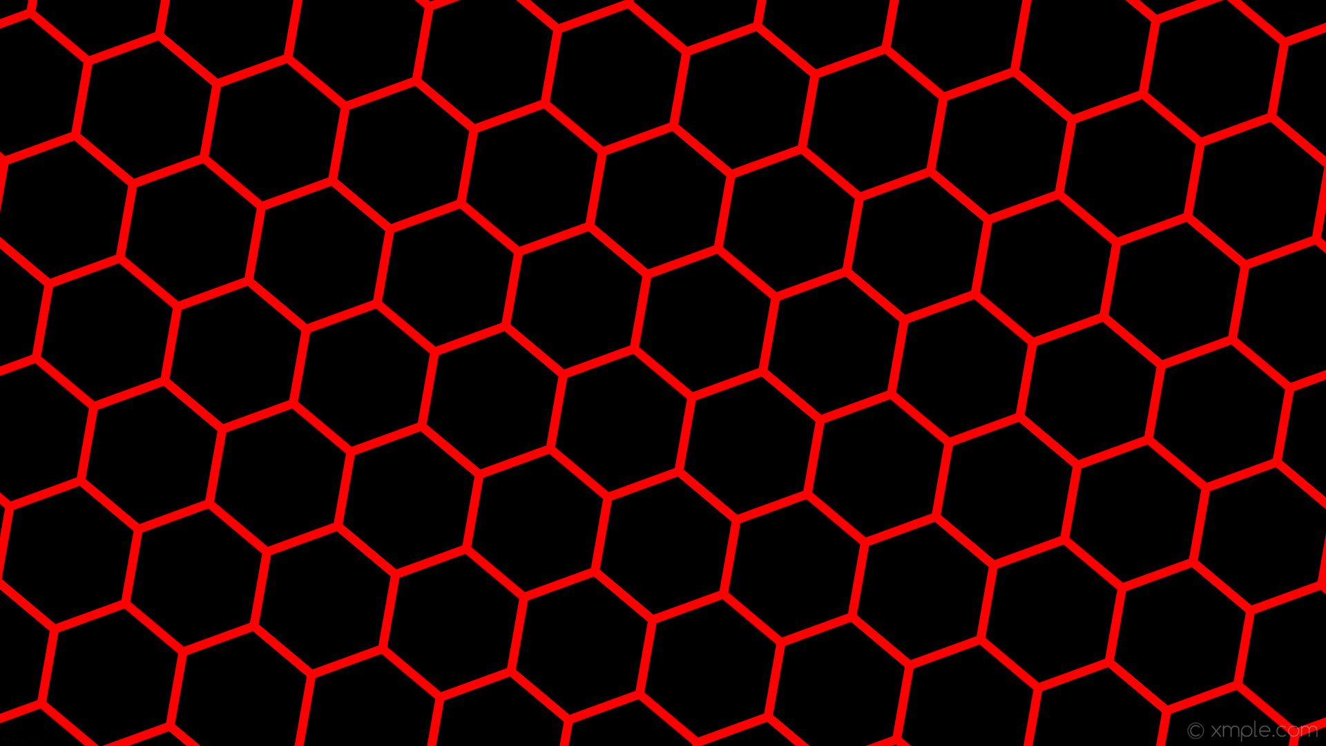 wallpaper beehive honeycomb black red hexagon #000000 #ff0000 diagonal 50°  13px 189px