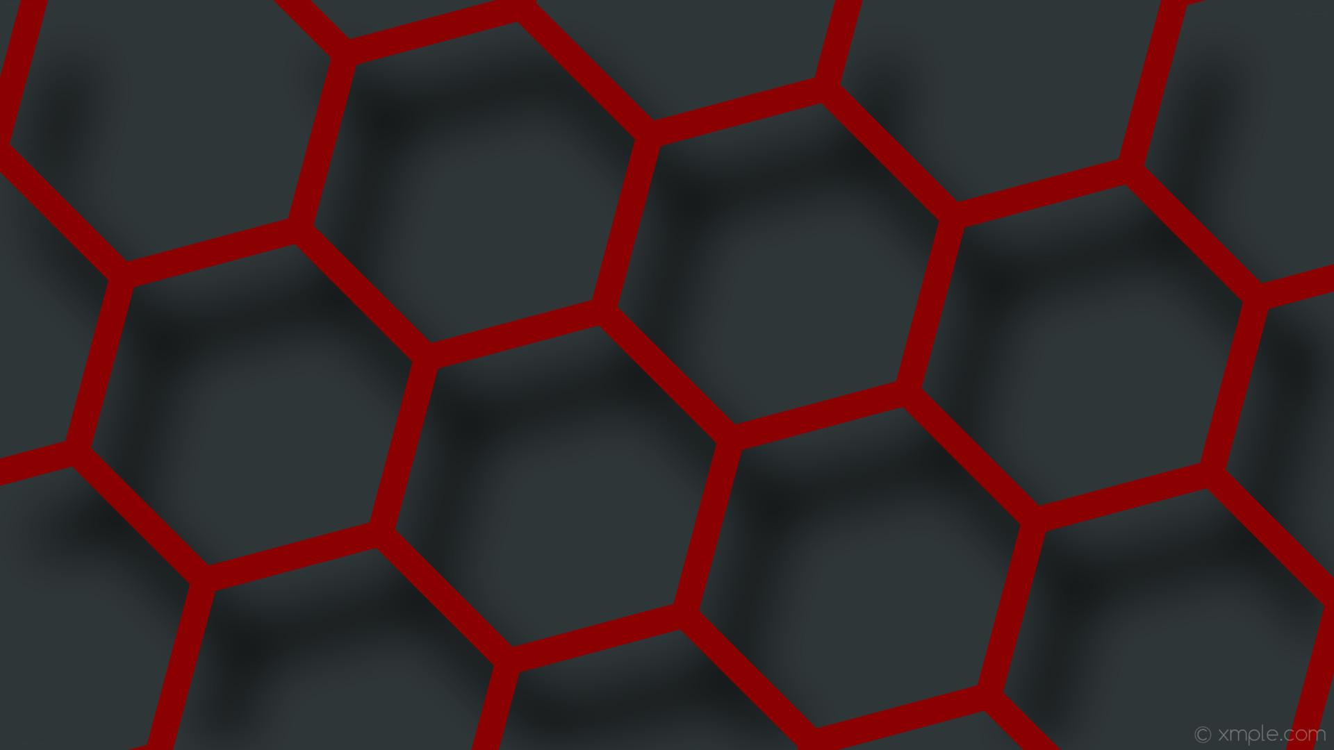 wallpaper beehive red hexagon gray drop shadow dark red #8b0000 #2f3638 45°  38px