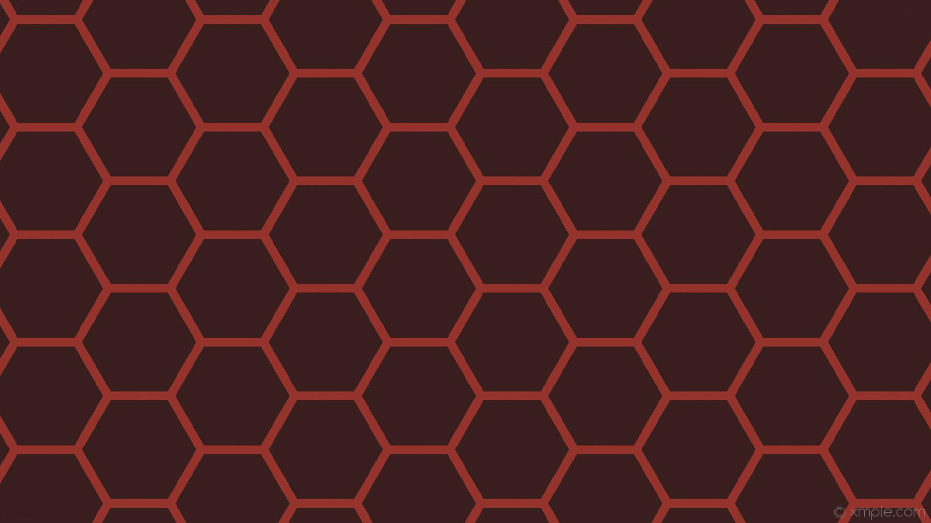 wallpaper honeycomb beehive red hexagon dark red #381f1d #94332c diagonal  30° 18px 222px