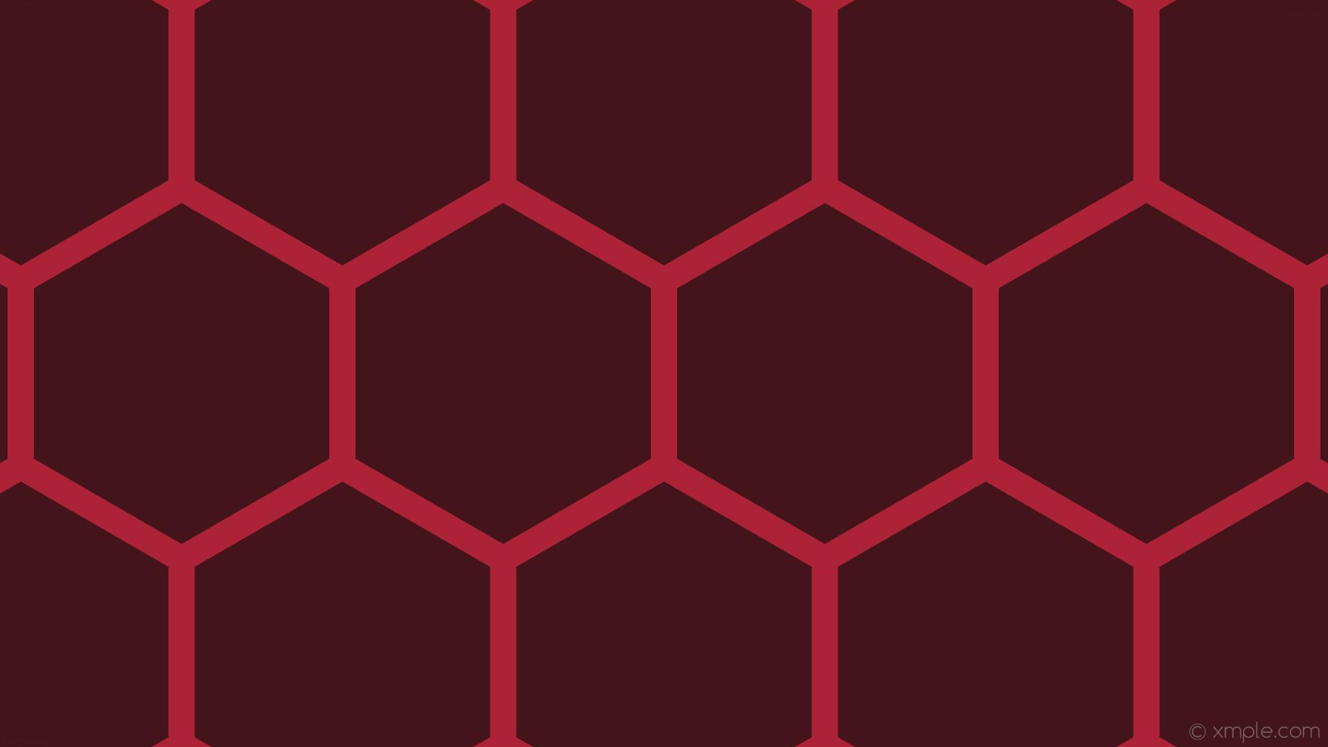 wallpaper honeycomb beehive red hexagon dark red #44141b #ac2236 0° 38px  465px