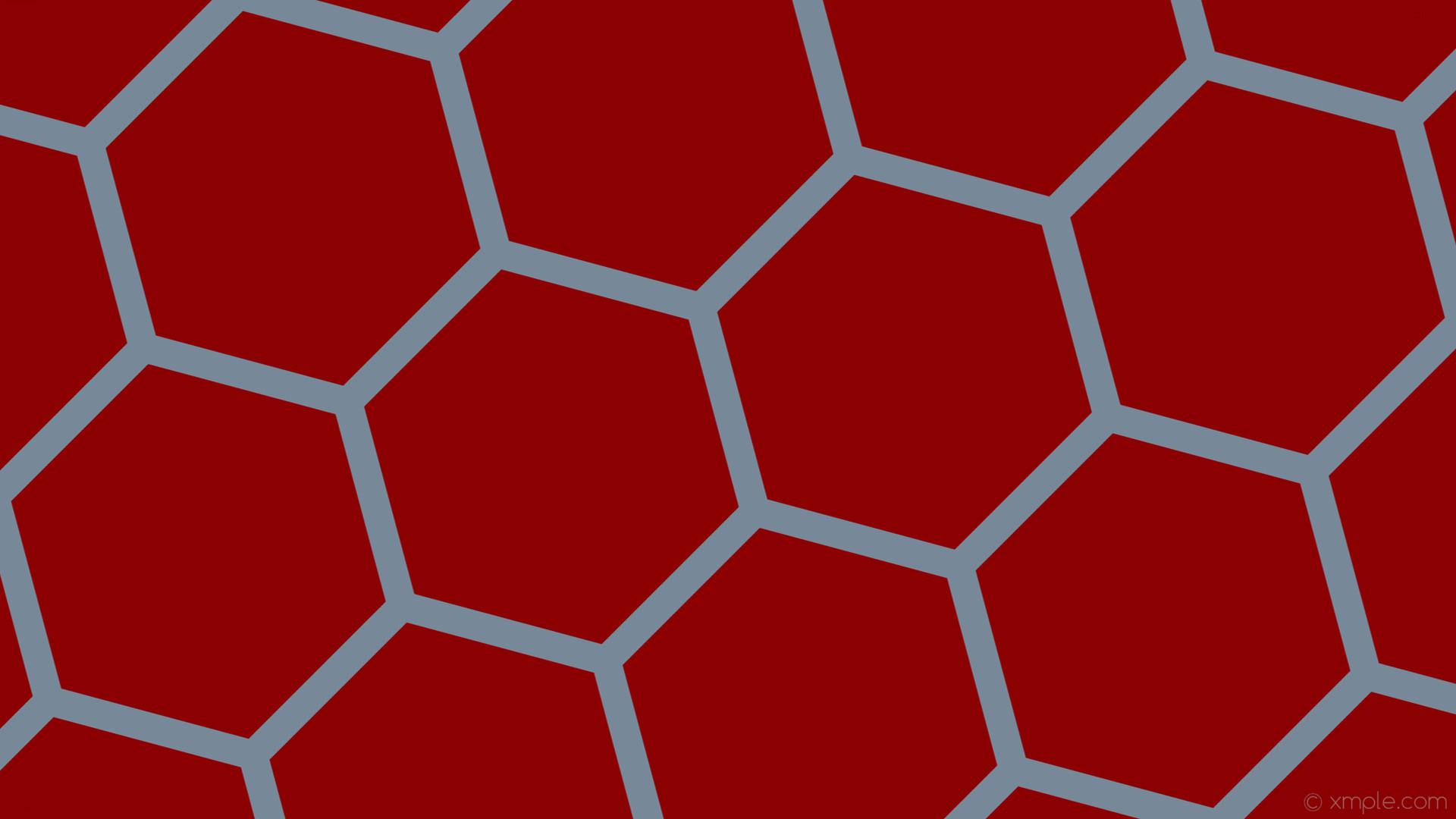 wallpaper grey red hexagon honeycomb beehive dark red light slate gray  #8b0000 #778899 diagonal