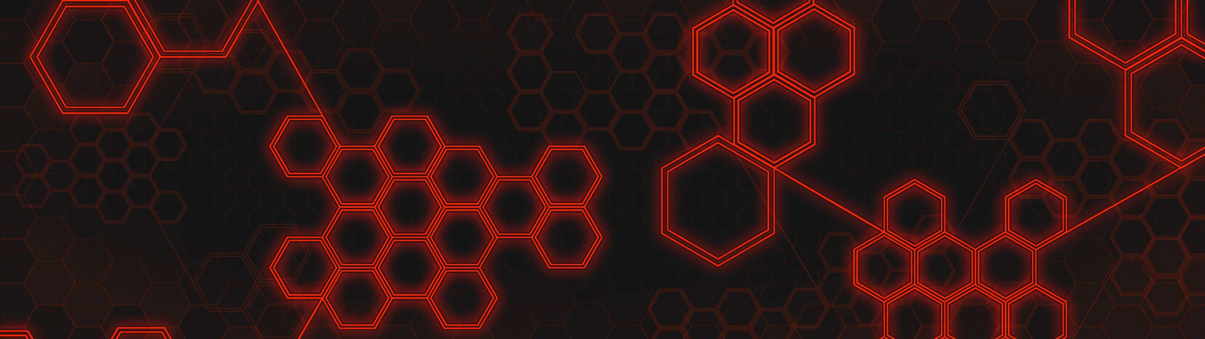 Red Hexagons. Made by me for two screens.