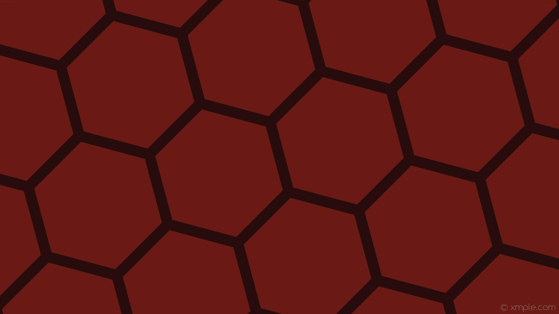 wallpaper hexagon red honeycomb beehive dark red #691a14 #260d0b diagonal  15° 37px 430px