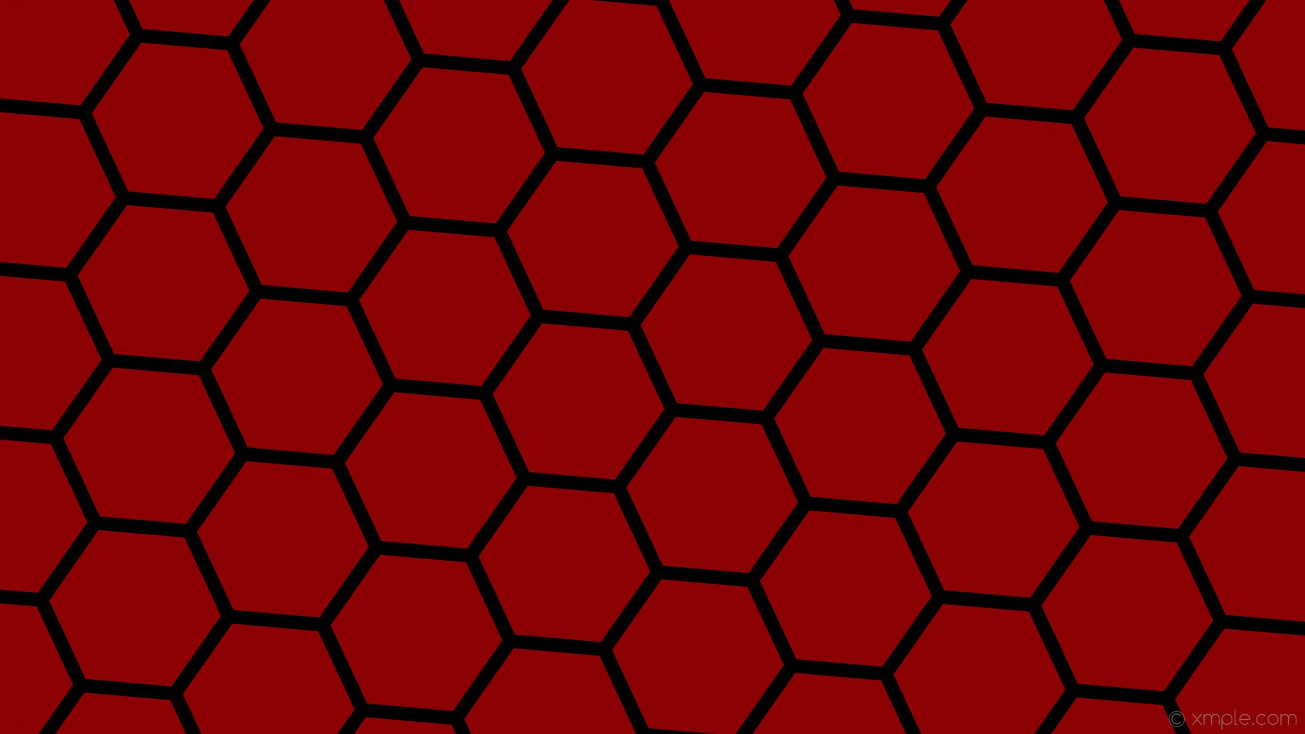 wallpaper red hexagon black honeycomb beehive dark red #8b0000 #000000  diagonal 25° 27px