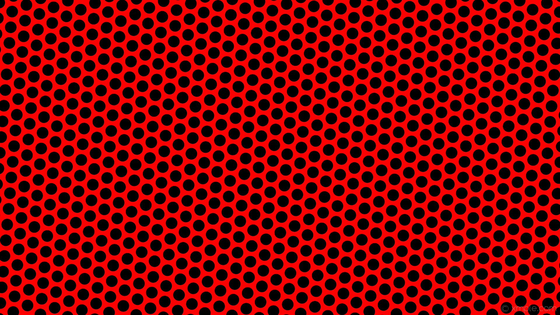 wallpaper dots polka red black hexagon #ff0000 #000000 diagonal 25° 40px  54px