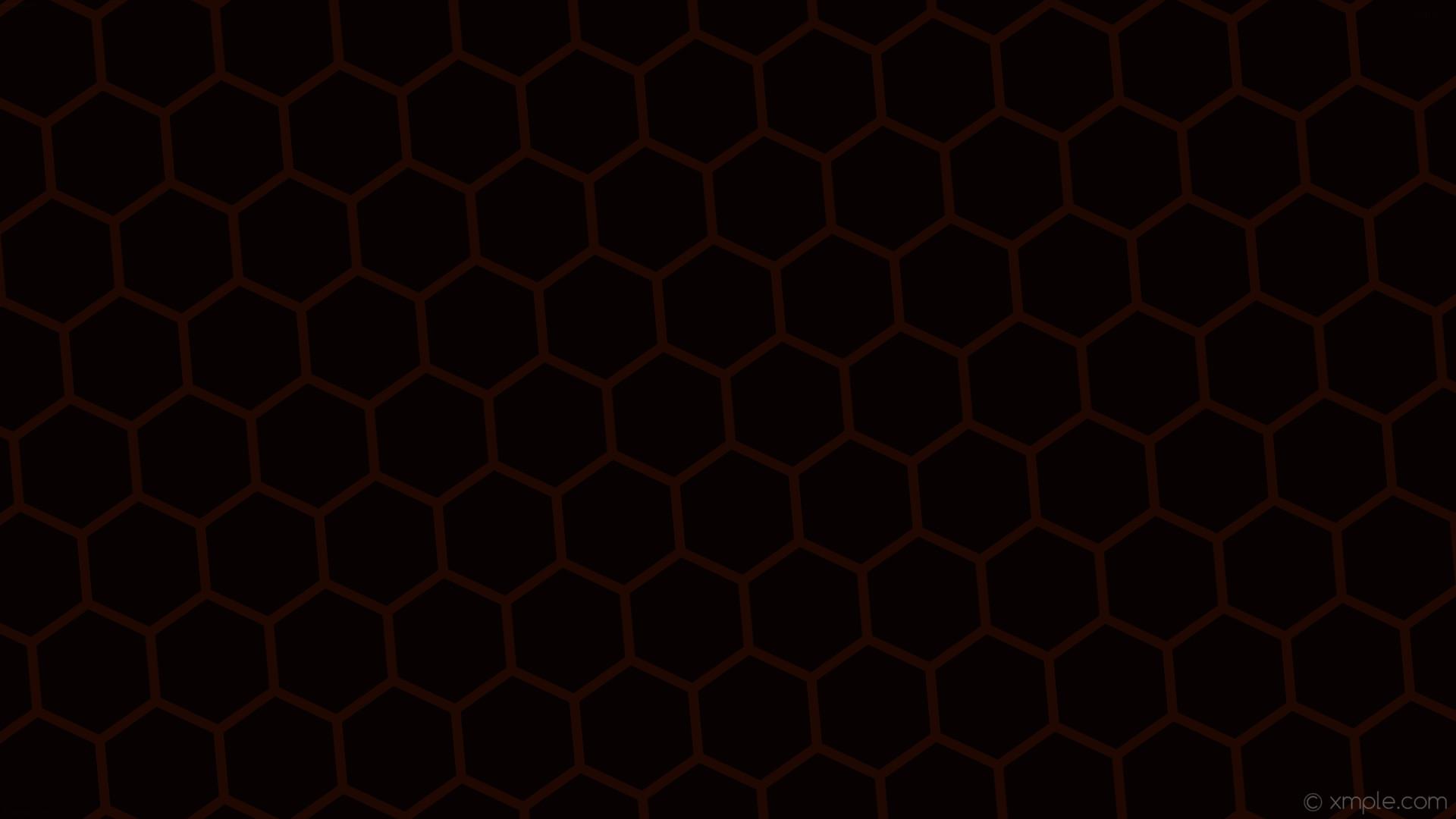 wallpaper beehive hexagon red black honeycomb dark red #070201 #1f0802  diagonal 5° 13px