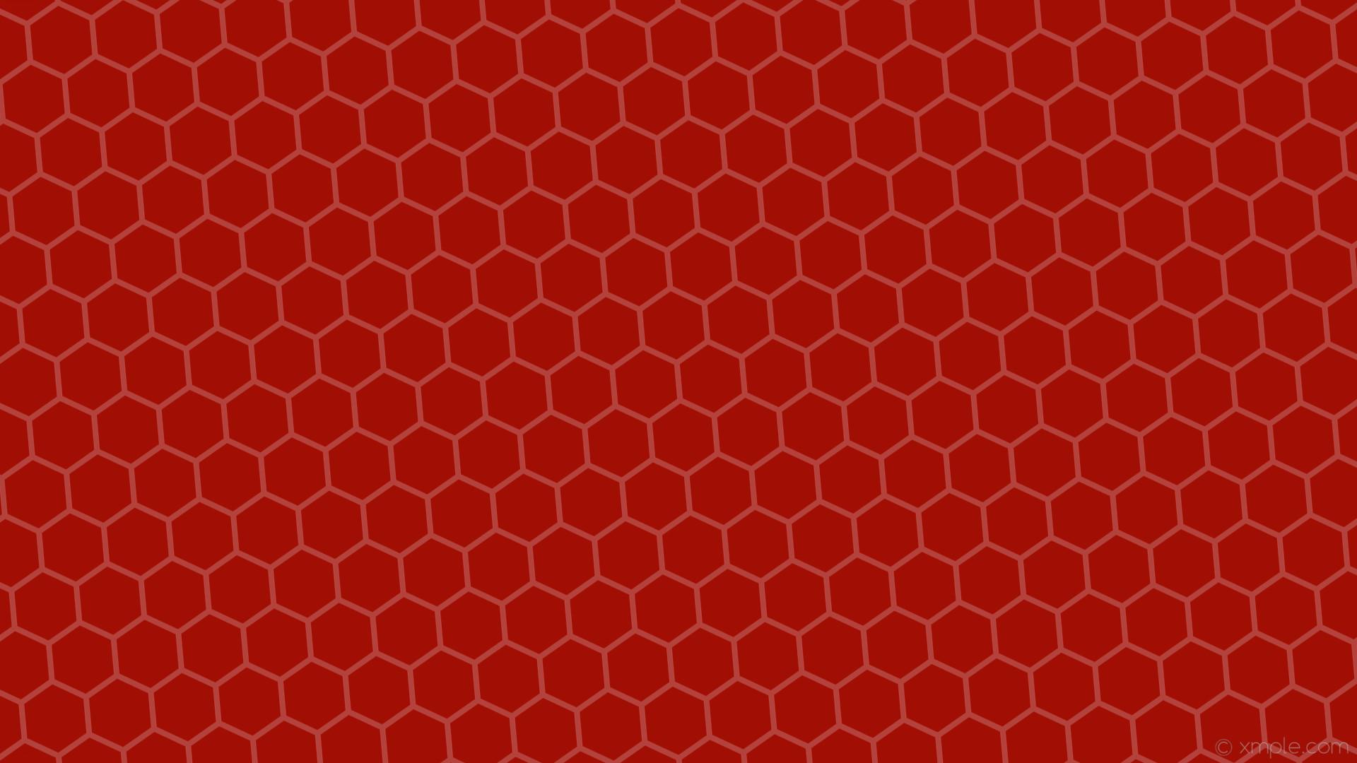 wallpaper red honeycomb hexagon beehive #a00e04 #b2423b diagonal 5° 8px 92px