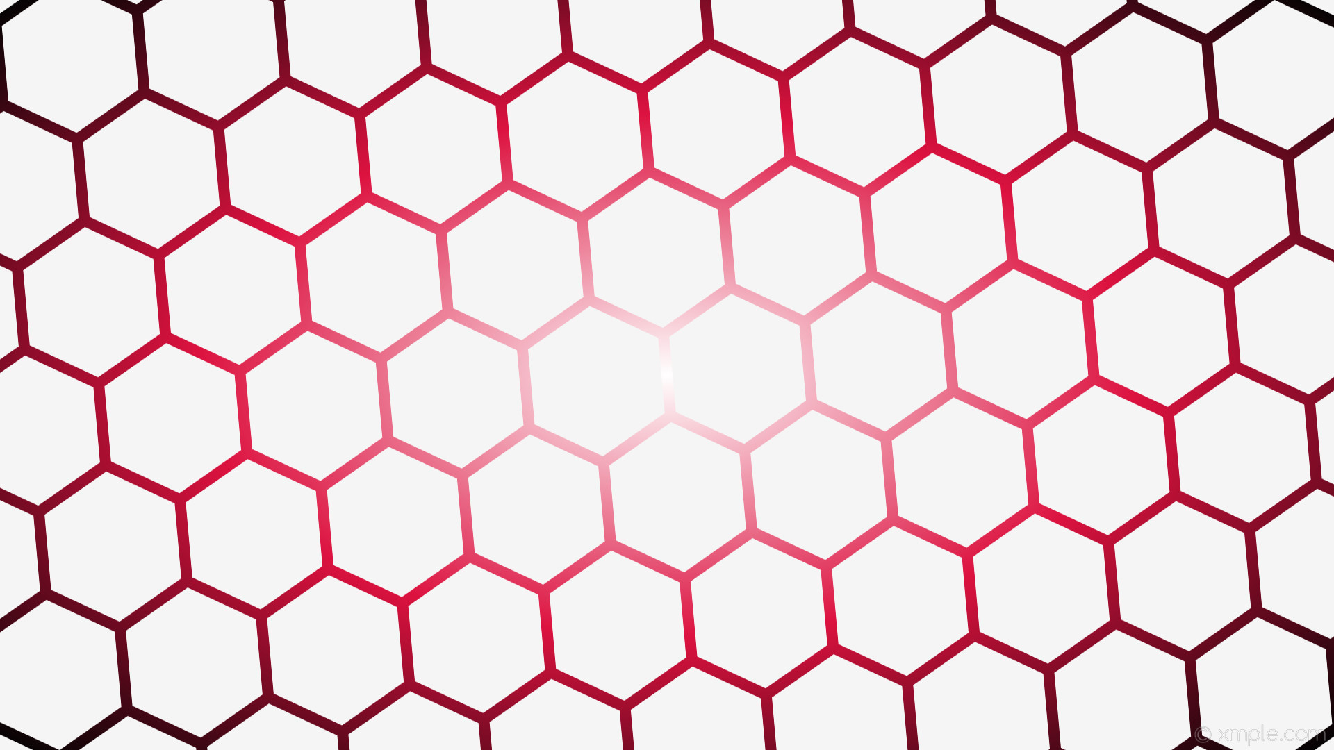 wallpaper black hexagon red white gradient glow white smoke #f5f5f5 #ffffff  #dc0f3d diagonal