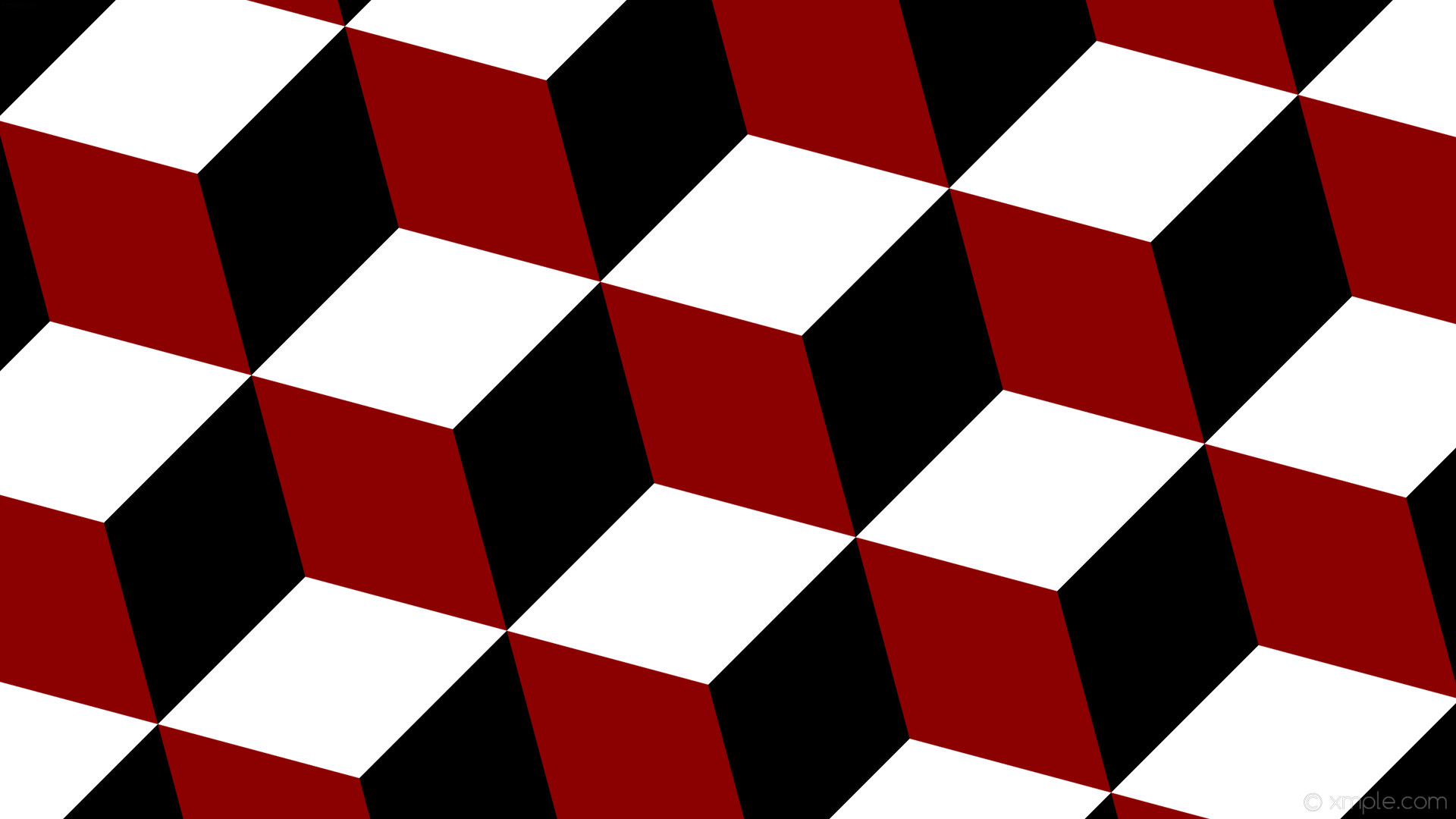 wallpaper red 3d cubes black white dark red #8b0000 #000000 #ffffff 135°