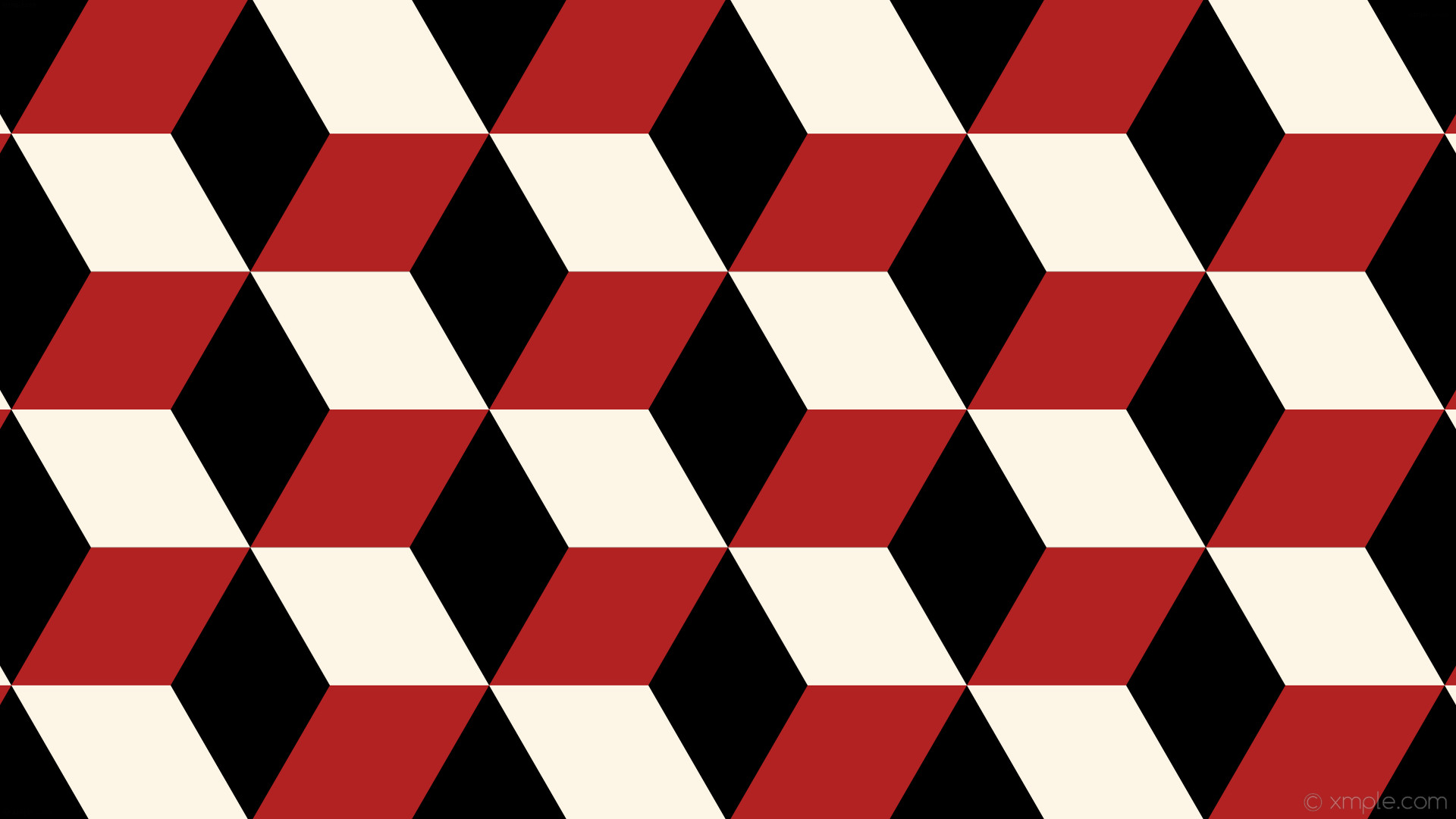wallpaper red 3d cubes white black fire brick old lace #000000 #b22222  #fdf5e6