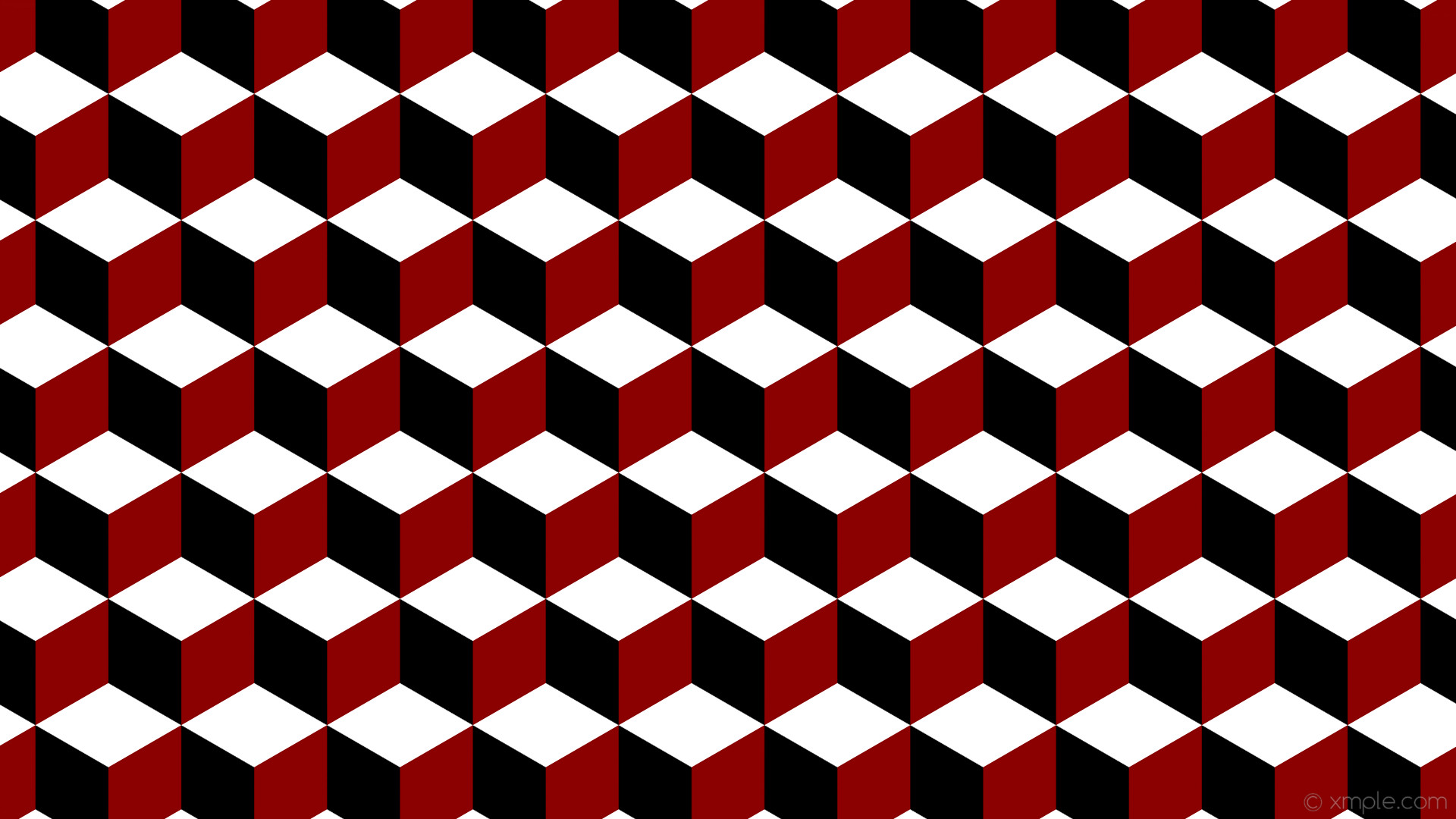 wallpaper white 3d cubes red black dark red #000000 #8b0000 #ffffff 300°