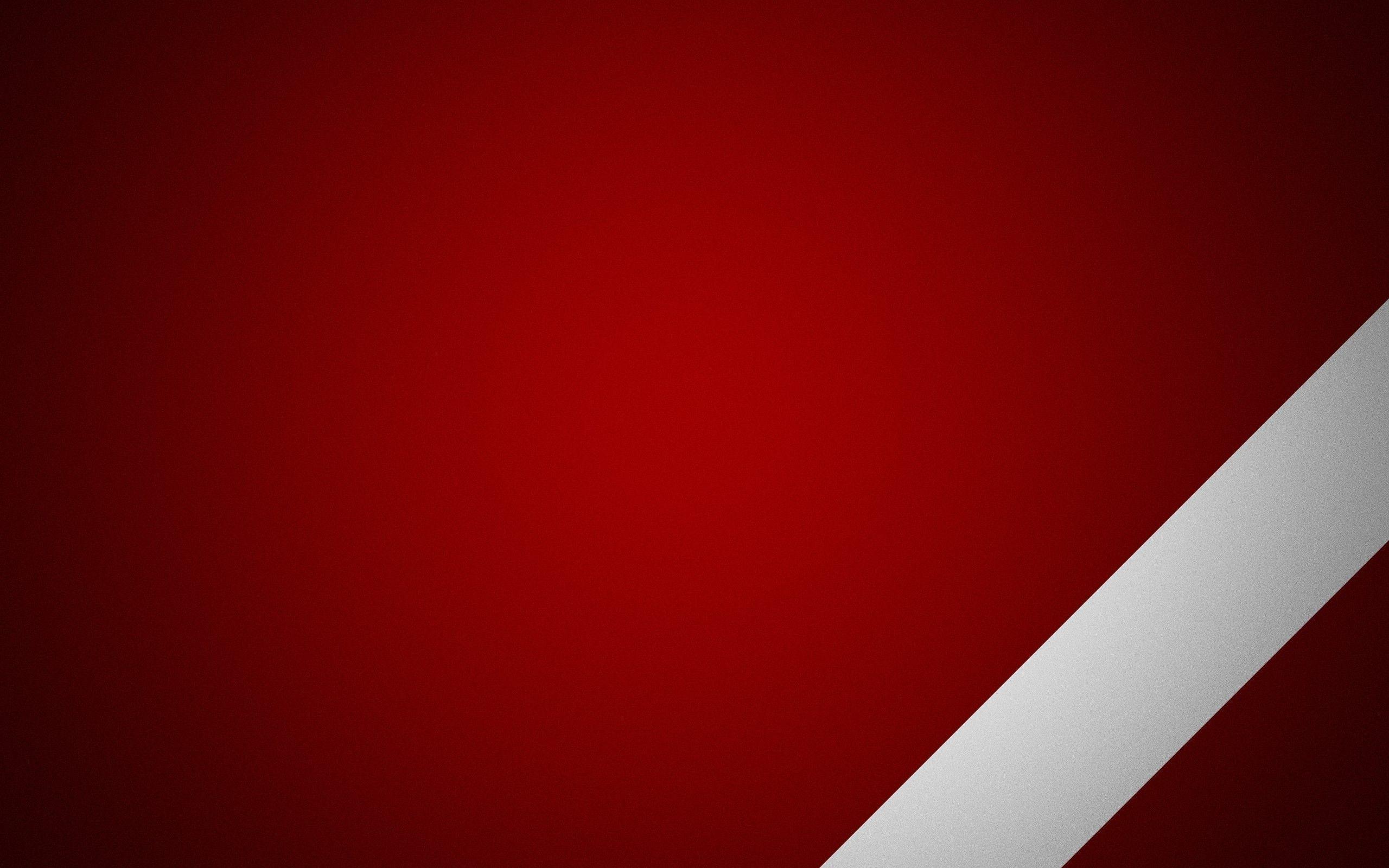 White Stripe On Red Background Wallpaper
