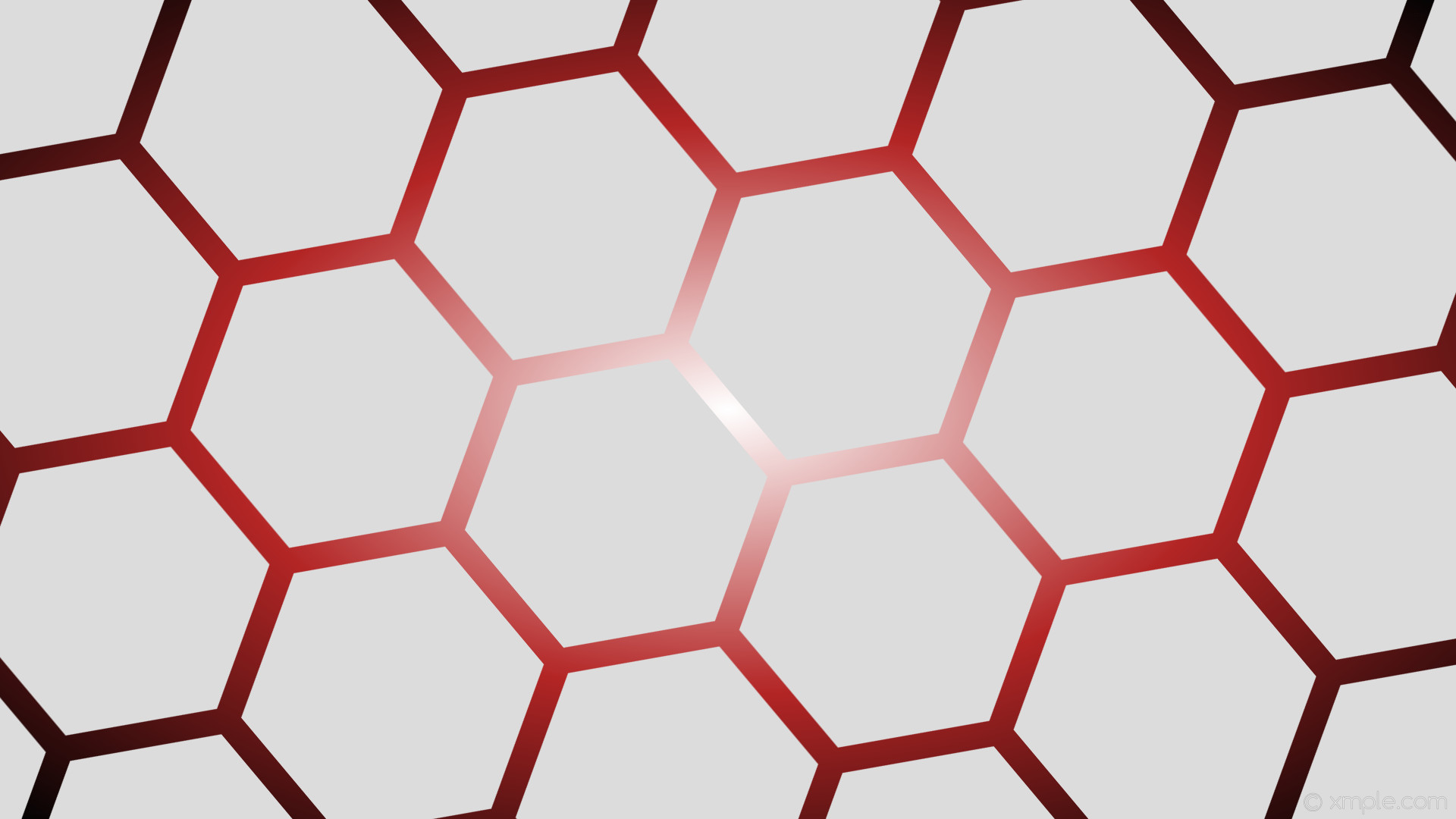 wallpaper black gradient red white grey glow hexagon #dcdcdc