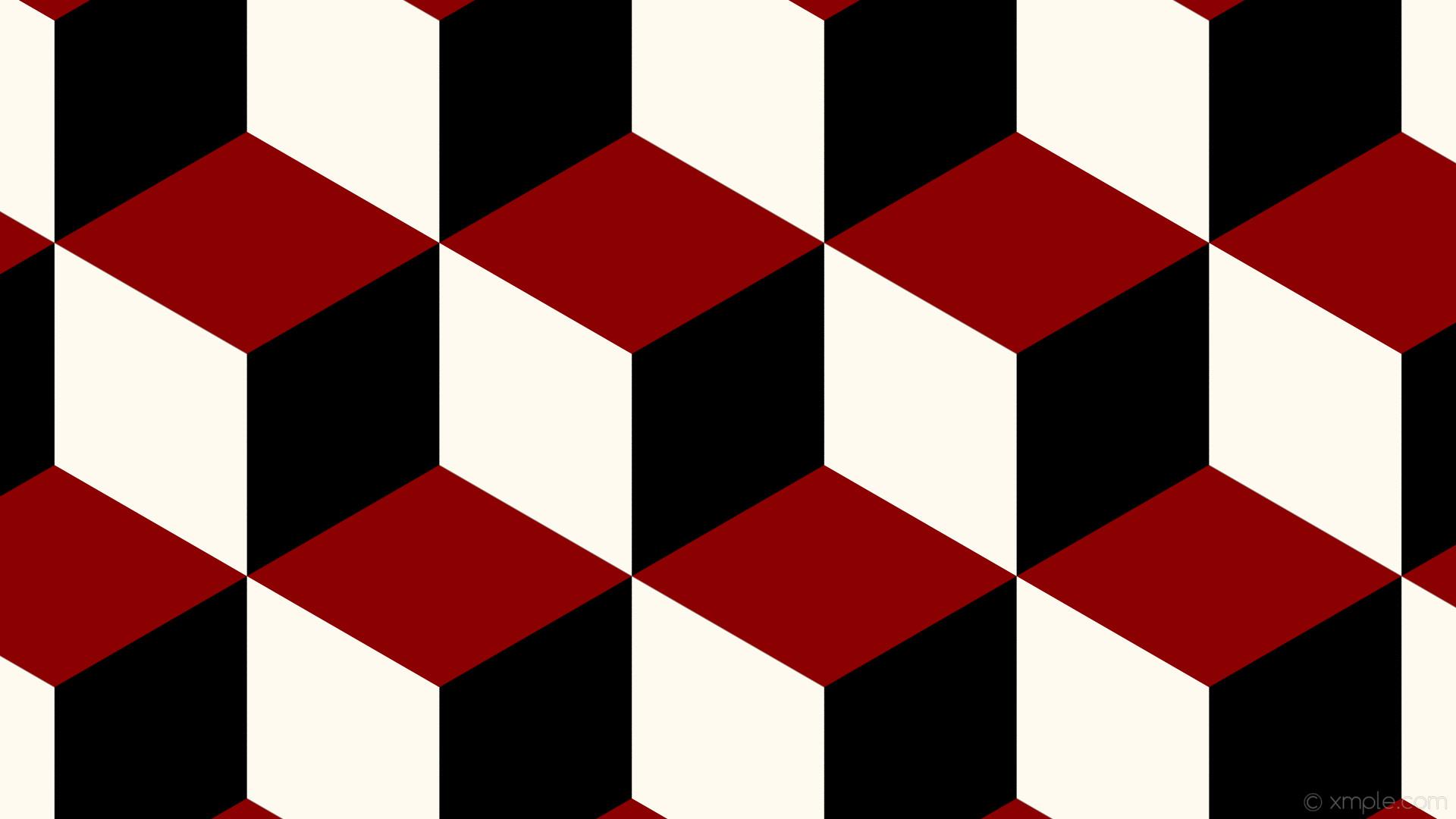 wallpaper red 3d cubes white black dark red floral white #000000 #8b0000  #fffaf0