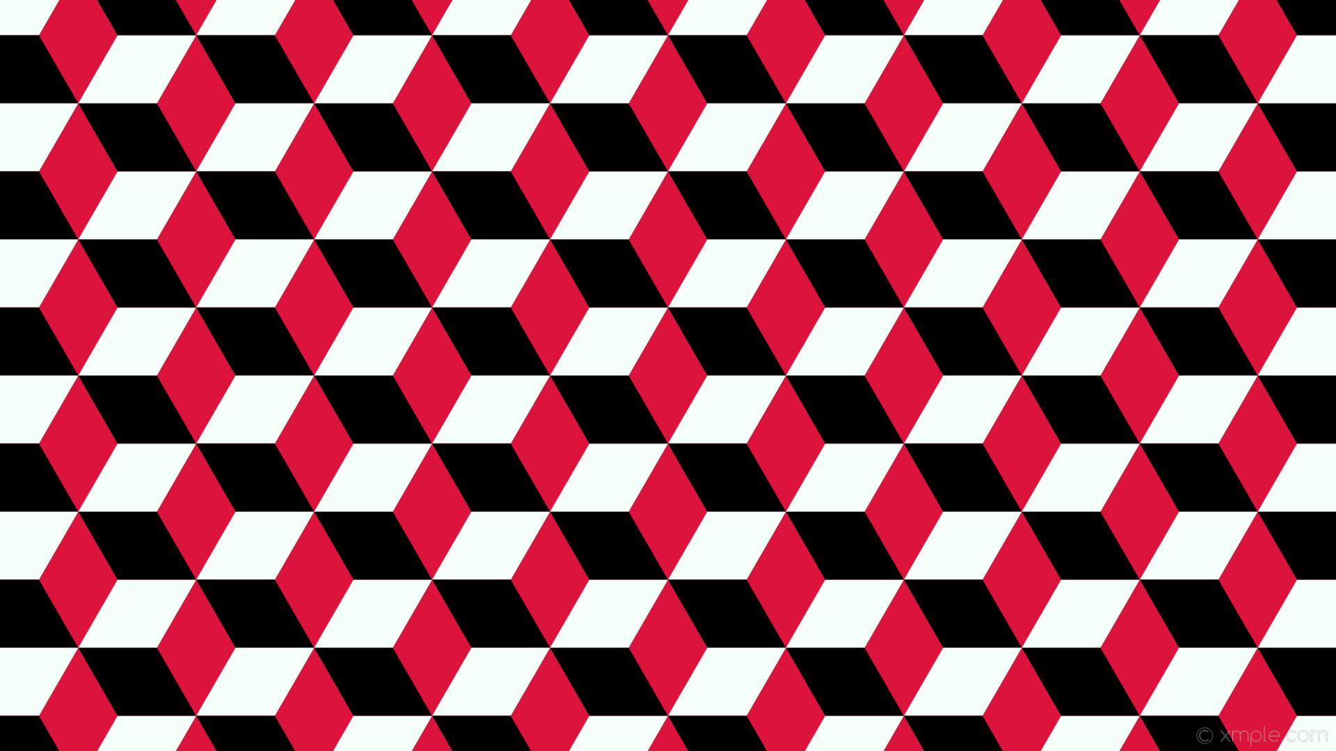 wallpaper 3d cubes red white black crimson mint cream #dc143c #f5fffa  #000000 270