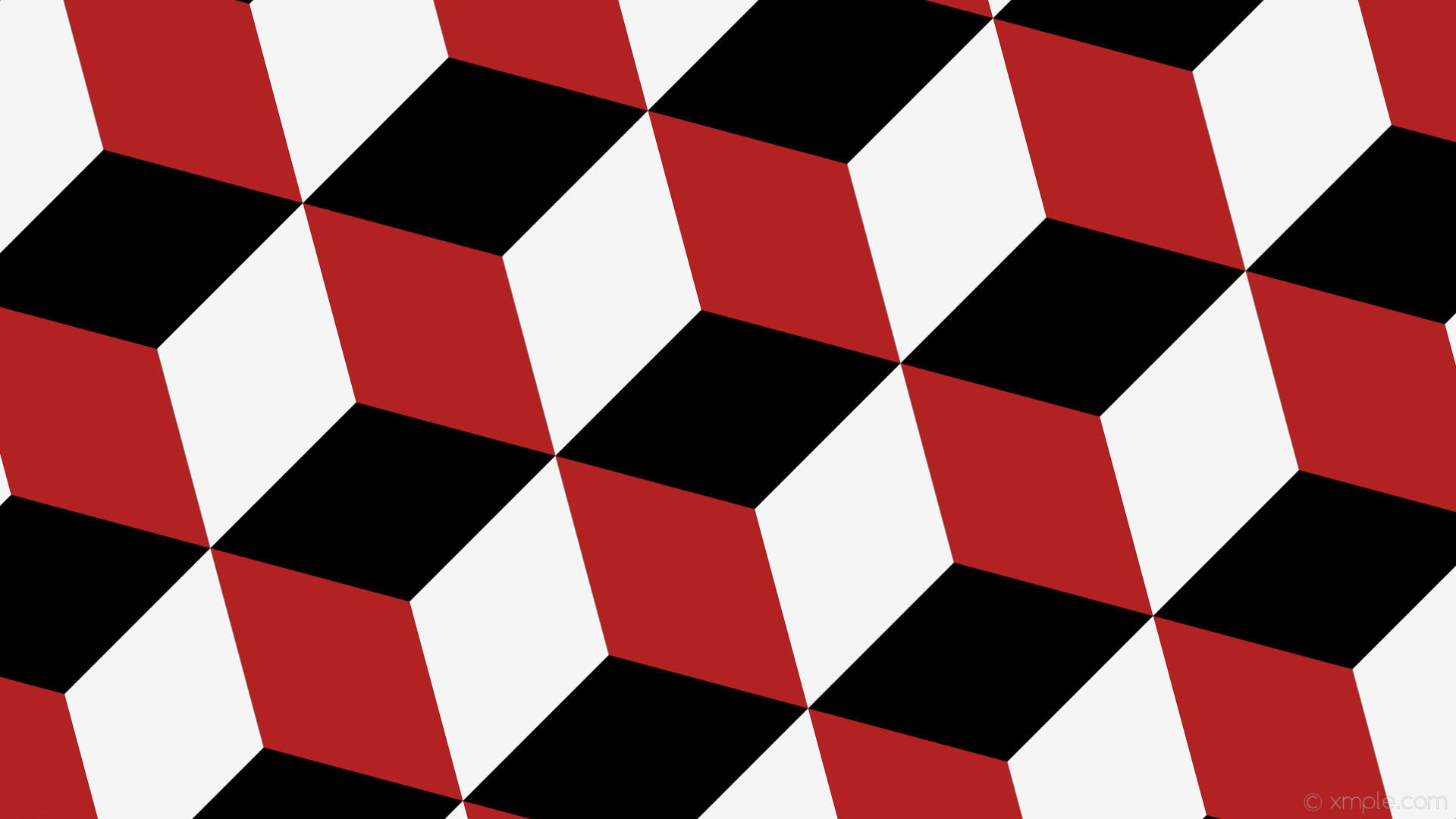wallpaper red 3d cubes white black fire brick white smoke #000000 #b22222  #f5f5f5