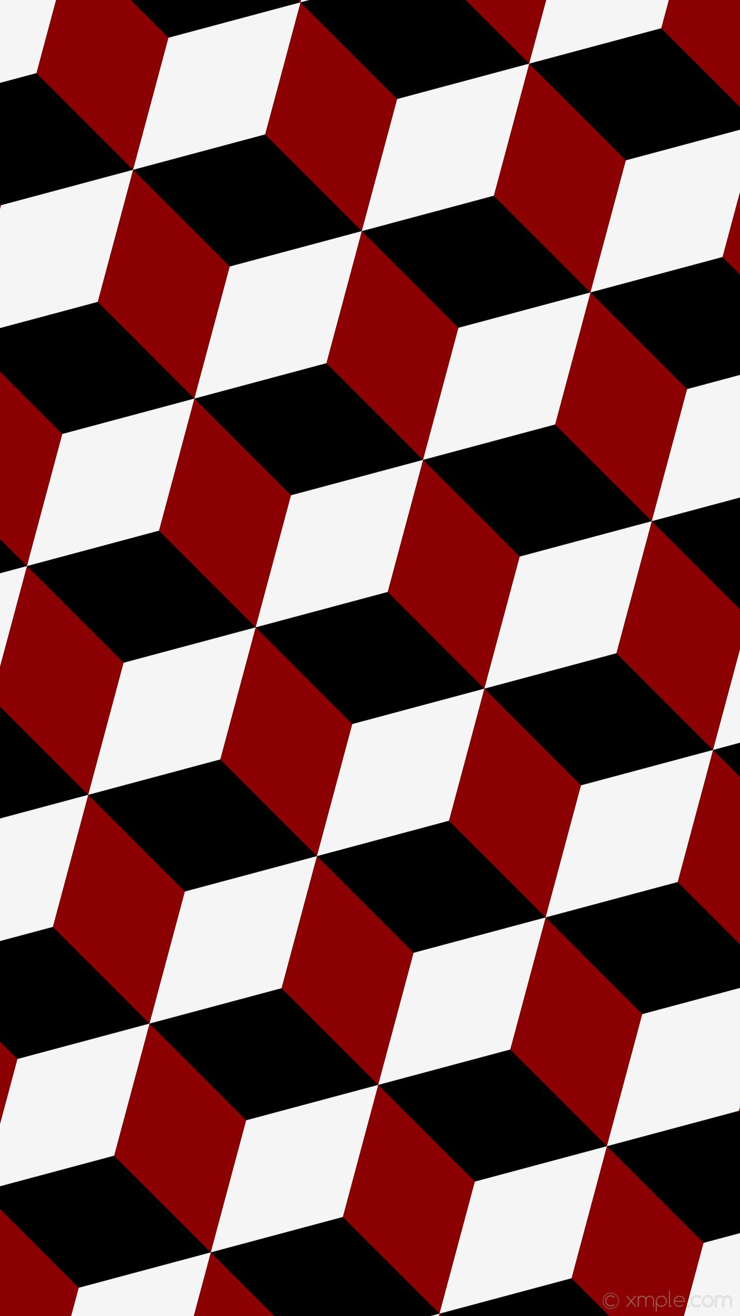 wallpaper red 3d cubes white black dark red white smoke #000000 #8b0000  #f5f5f5