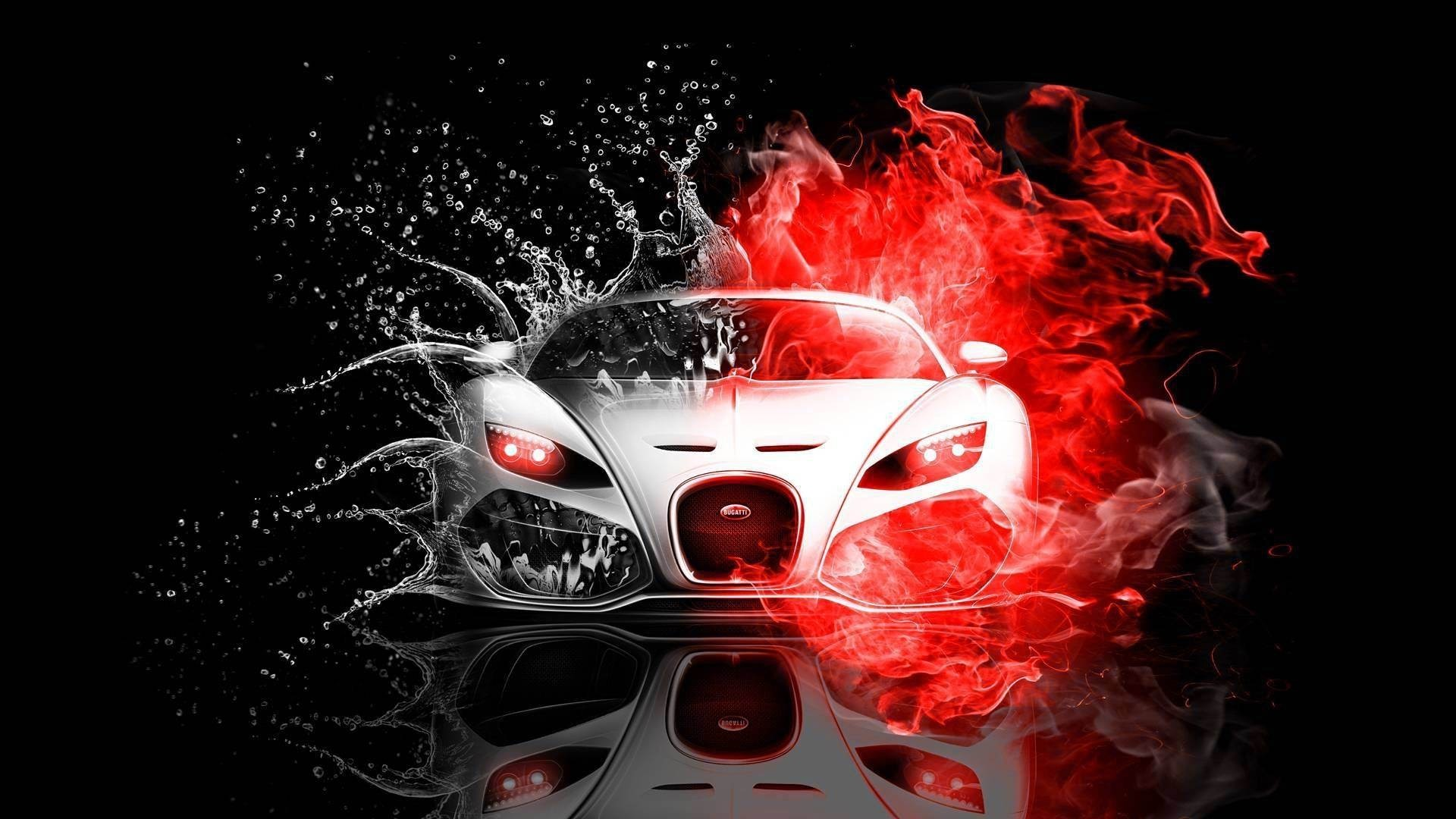 Wallpapers Backgrounds – White Bugatti Veyron Black Red Background  Wallpapers