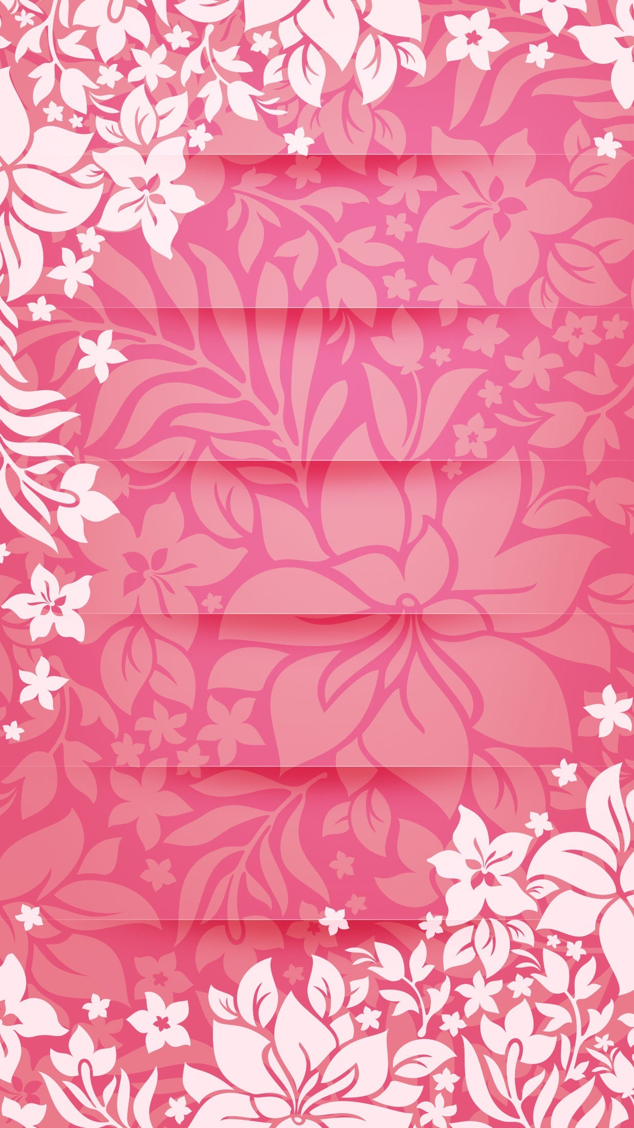 Shelves Flower Pattern Pink Tracery Unicolor Girly
