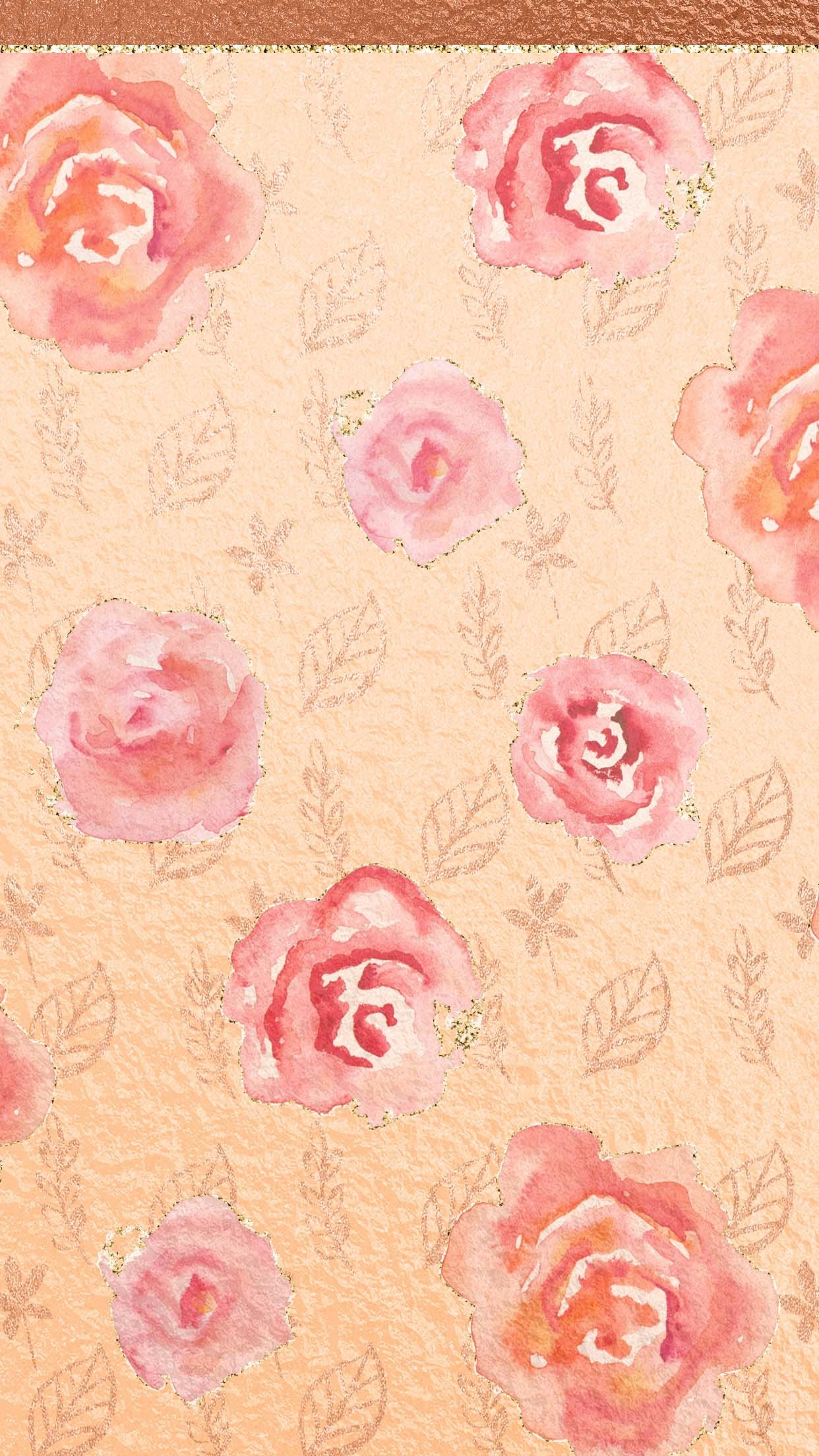 Rose Gold Flowere – Cute, girly, flowers, rose gold
