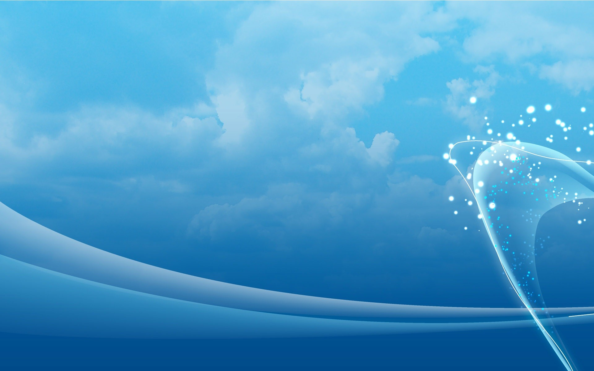 Abstract Blue Background HD Wallpaper