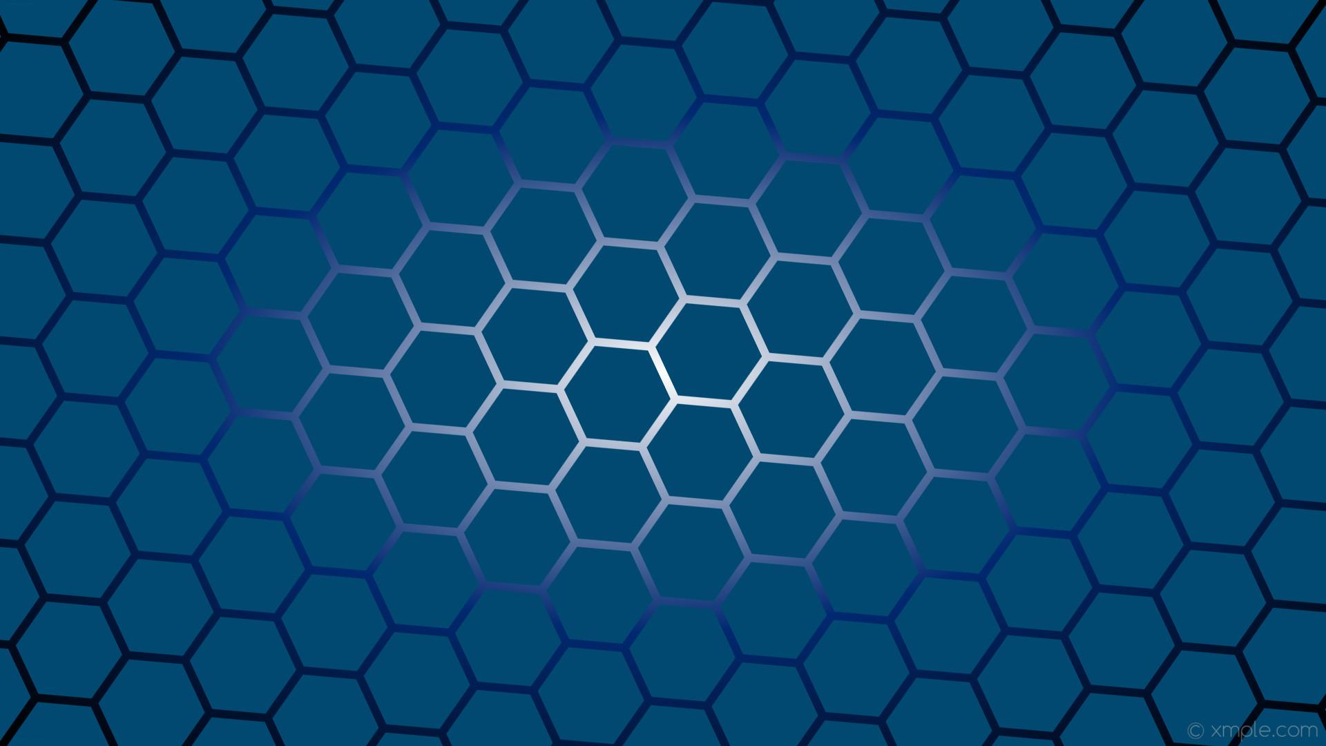 wallpaper gradient azure black hexagon glow white #014970 #ffffff #012870  diagonal 25°