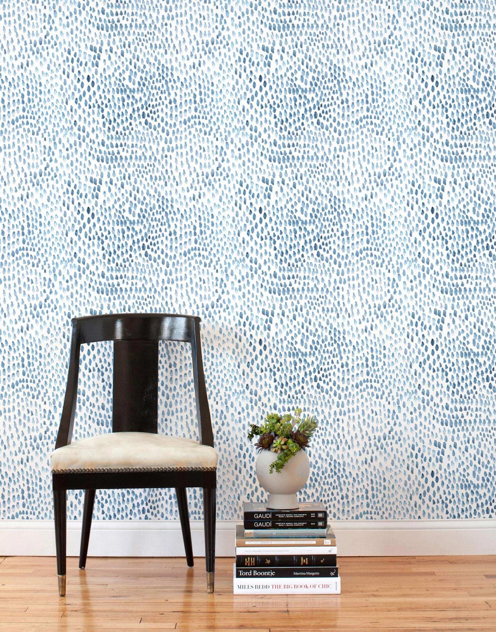 Raindrops (Blue/Gray) Tiles