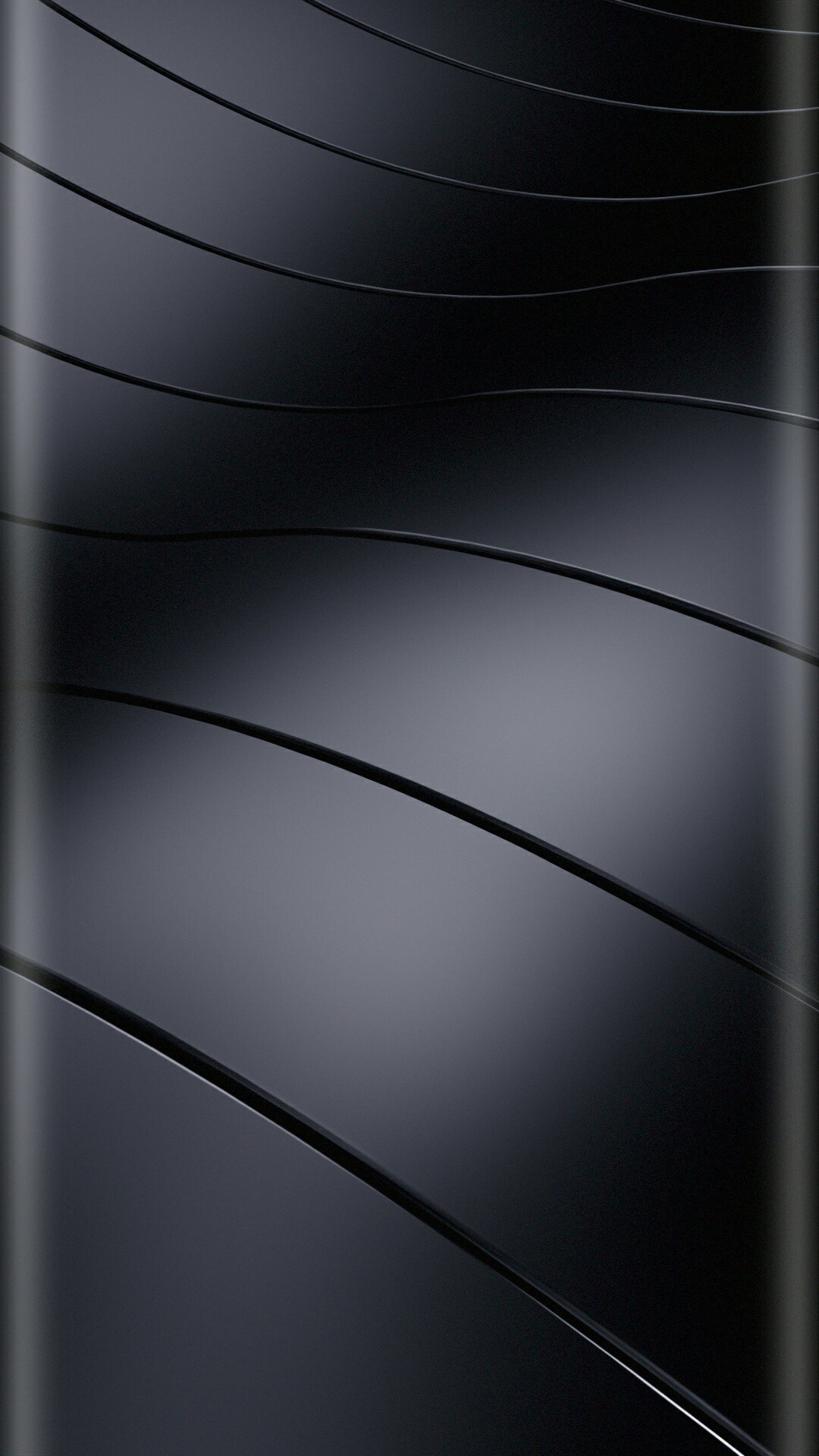 Blue Wavy Curves Wallpaper