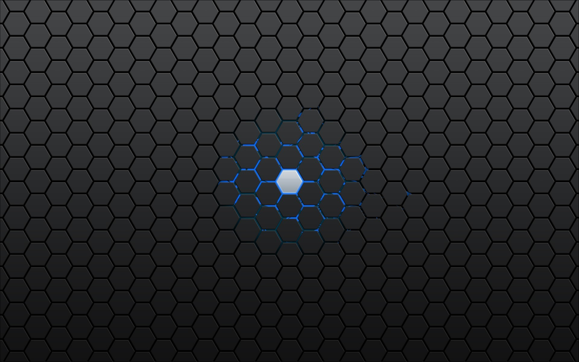 Android (operating System), Hexagon, Geometry, Blue, Gray, Artwork, Digital  Art, Abstract Wallpapers HD / Desktop and Mobile Backgrounds