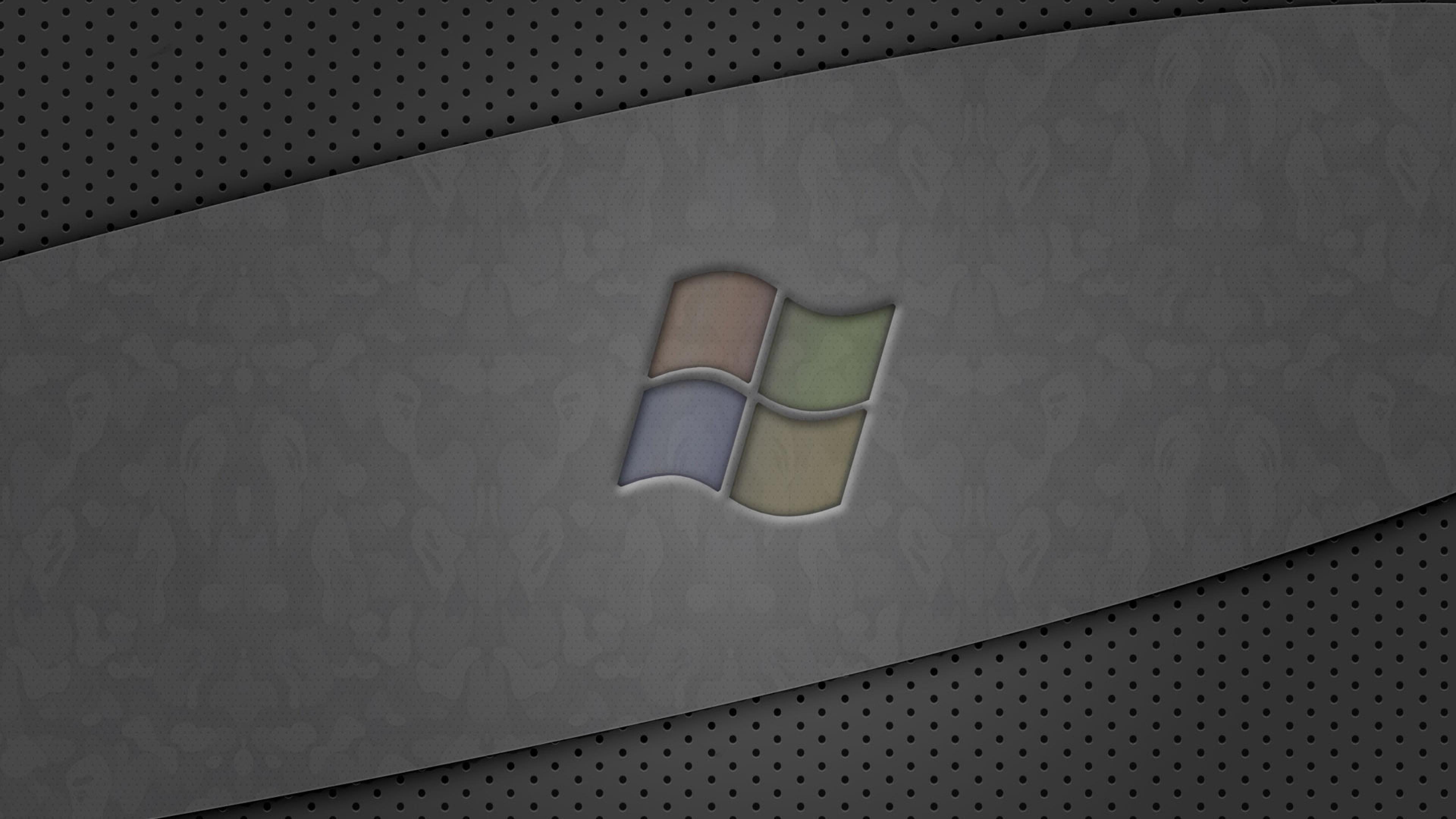 Preview wallpaper windows, logo, gray, green, blue 3840×2160