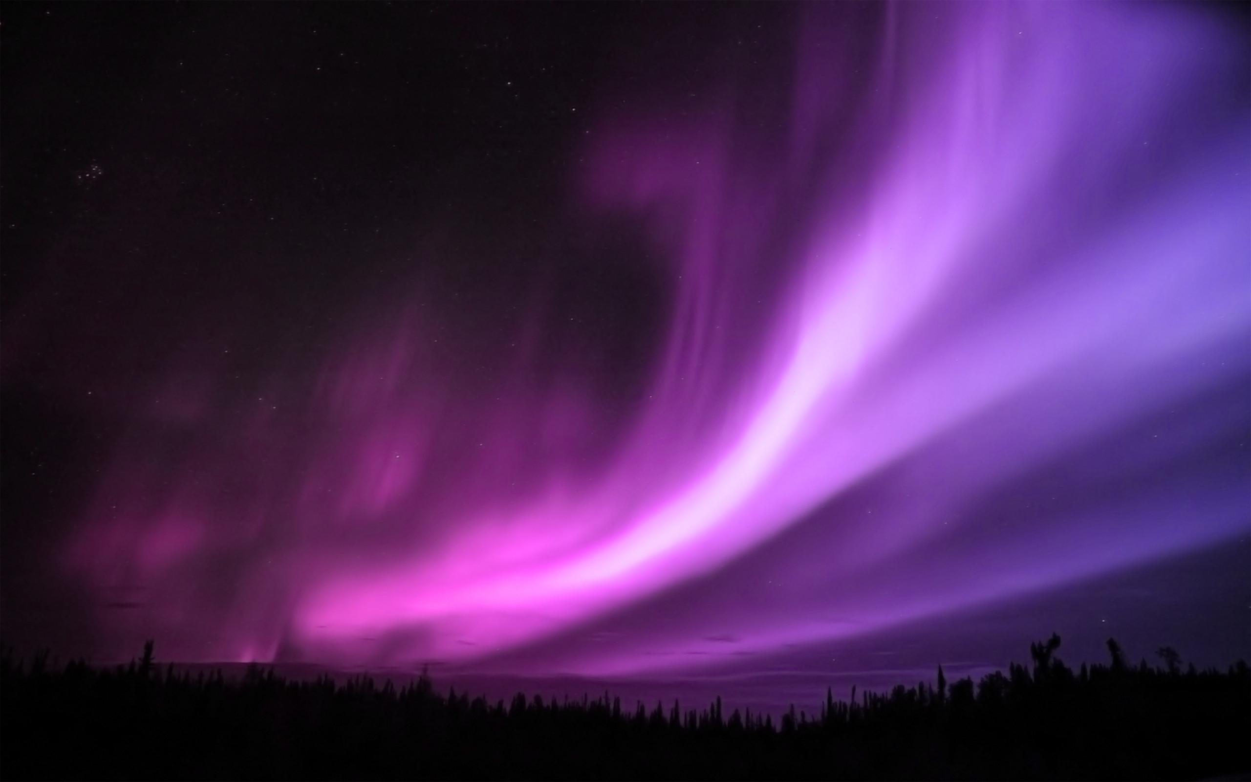 Blue And Purple Aurora Borealis