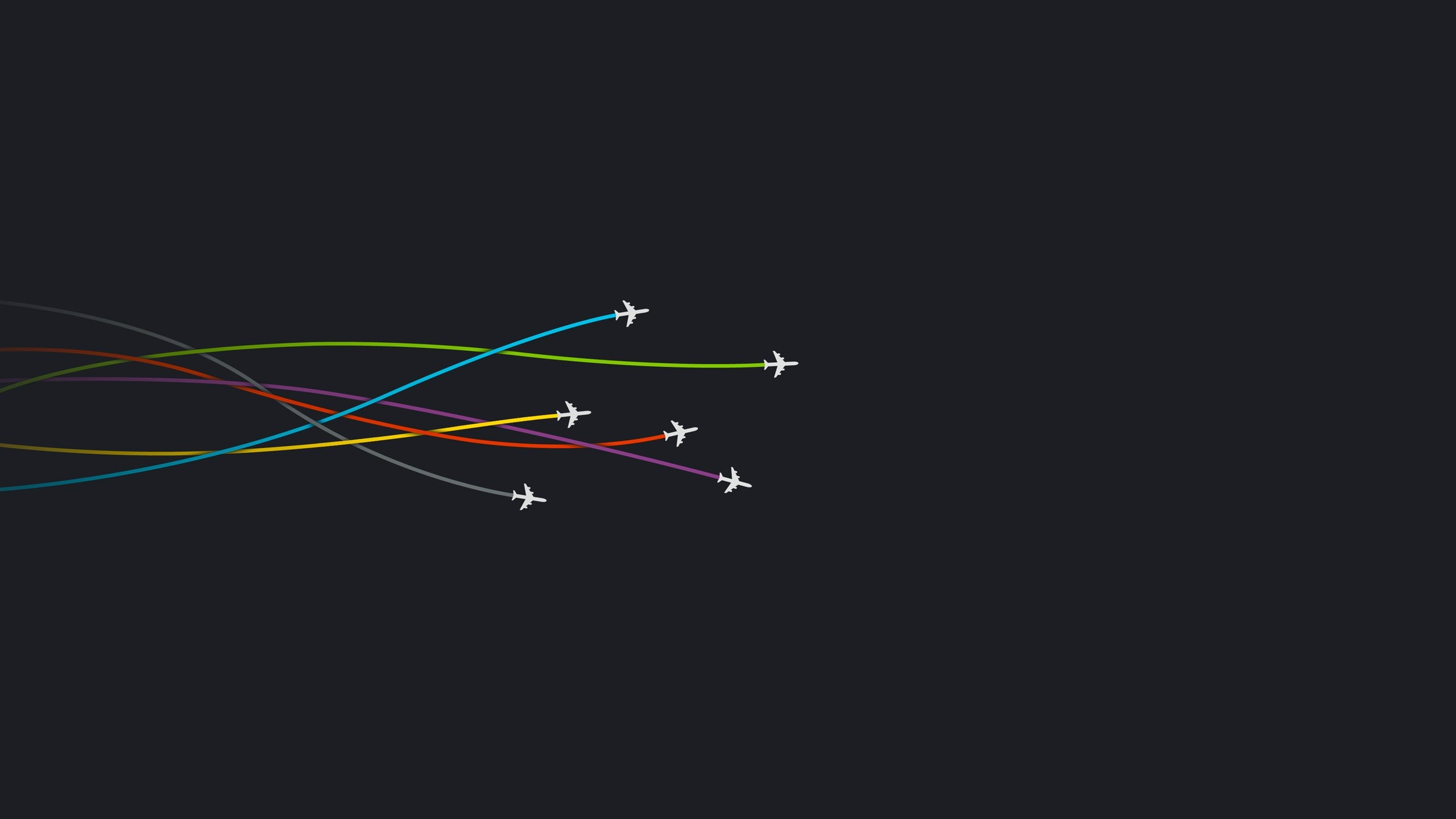 Minimal Dark Pattern Motivational Abstract Color Trails Airplanes