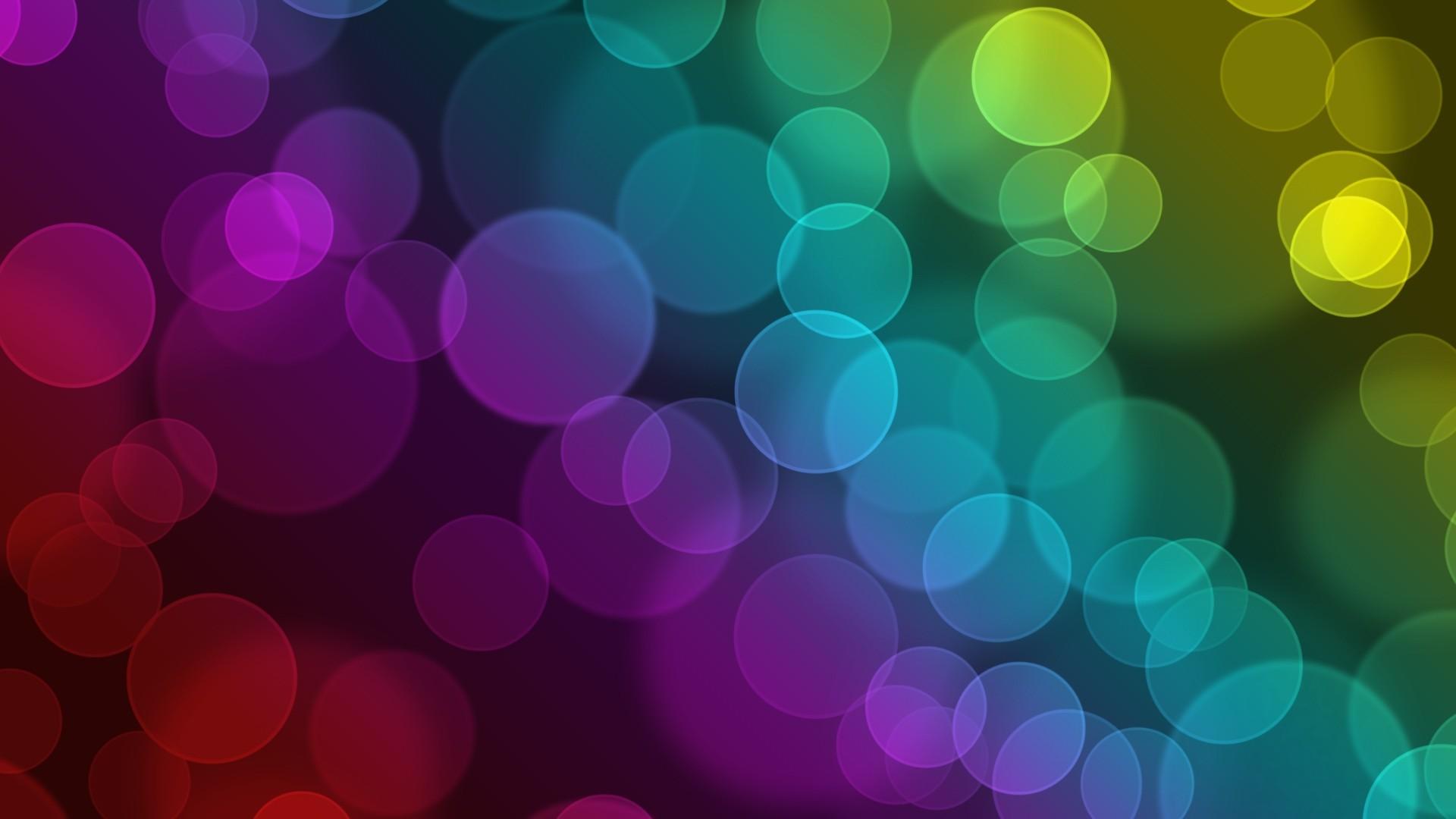 Wallpaper Flashing, Colorful, Circles, Dark, Shadow